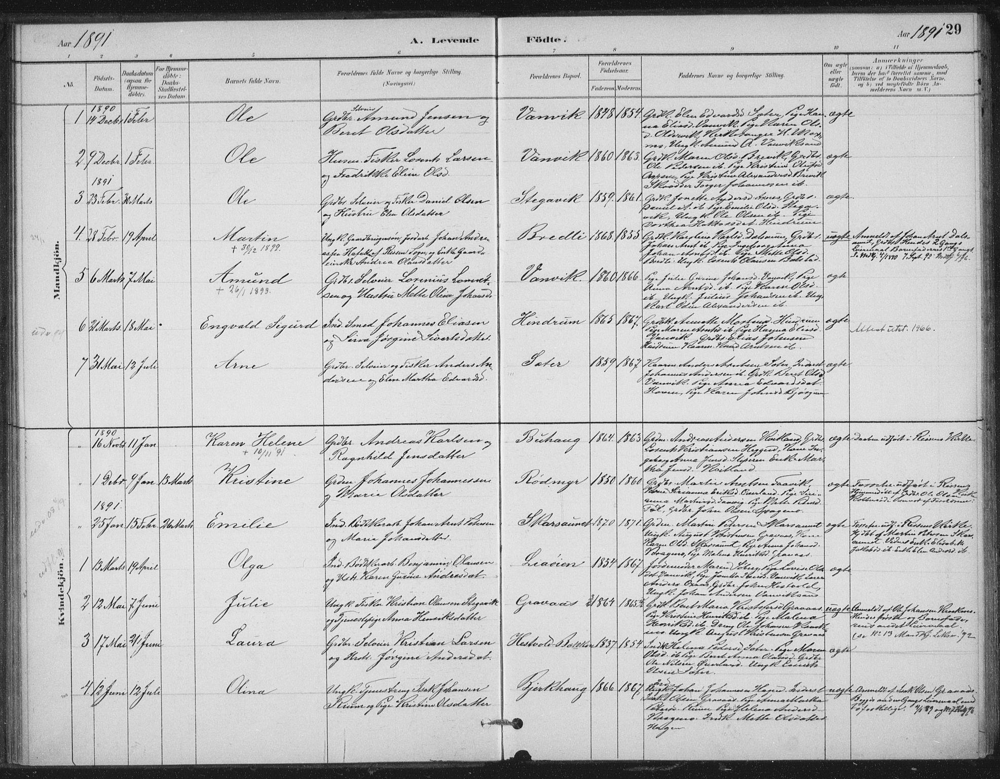SAT, Ministerialprotokoller, klokkerbøker og fødselsregistre - Nord-Trøndelag, 702/L0023: Ministerialbok nr. 702A01, 1883-1897, s. 29