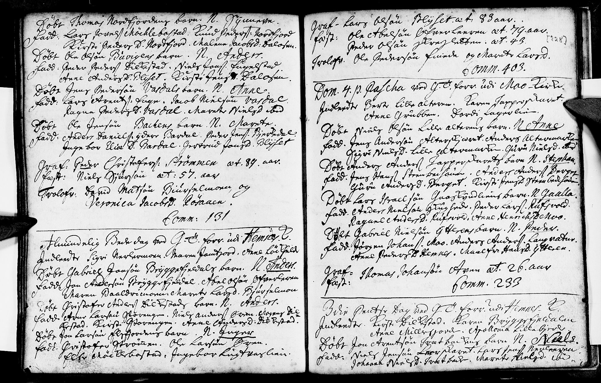 SAT, Ministerialprotokoller, klokkerbøker og fødselsregistre - Nordland, 825/L0345: Ministerialbok nr. 825A01, 1704-1728, s. 228