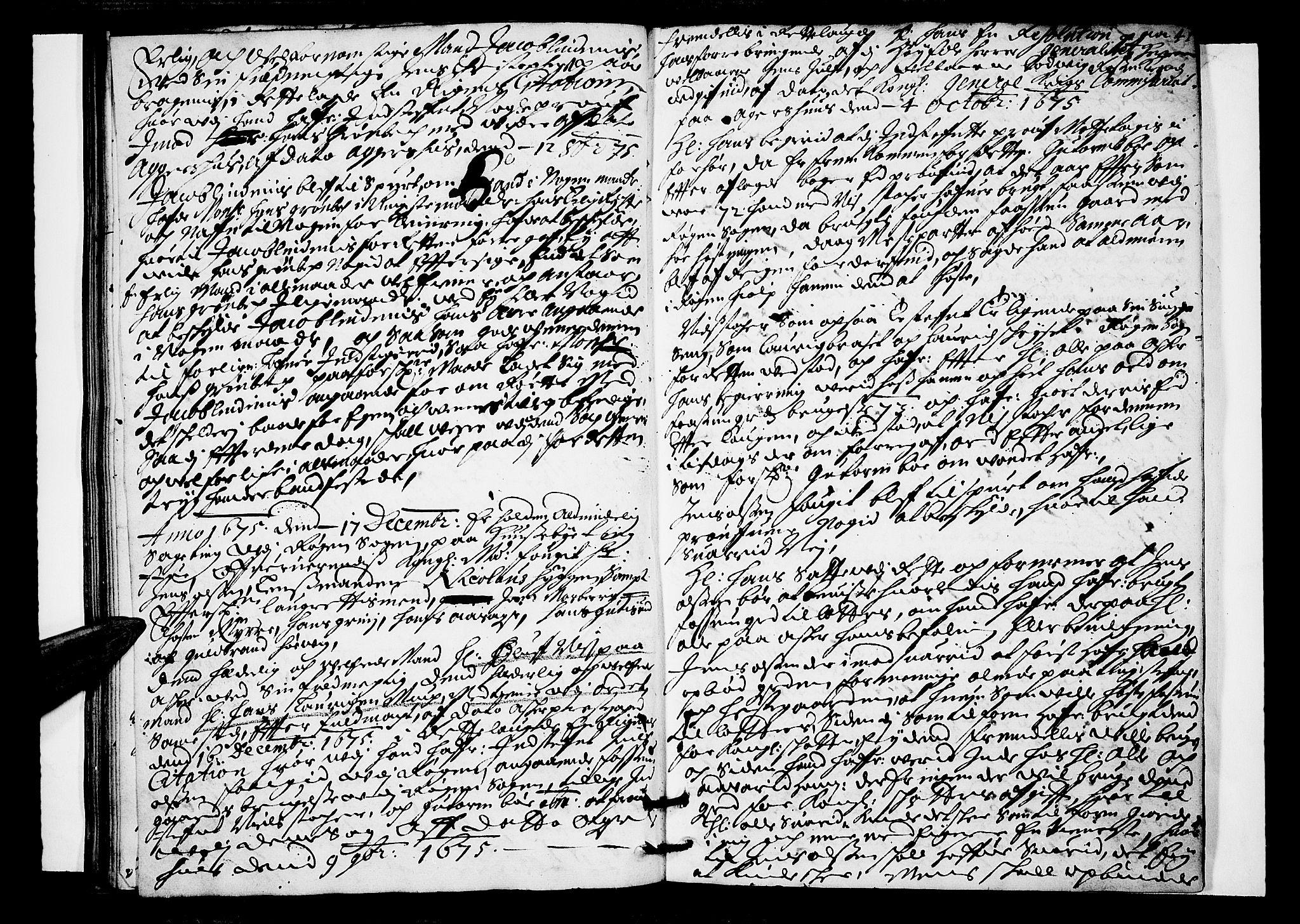 SAKO, Lier, Røyken og Hurum sorenskriveri, F/Fa/L0016: Tingbok, 1675, s. 41