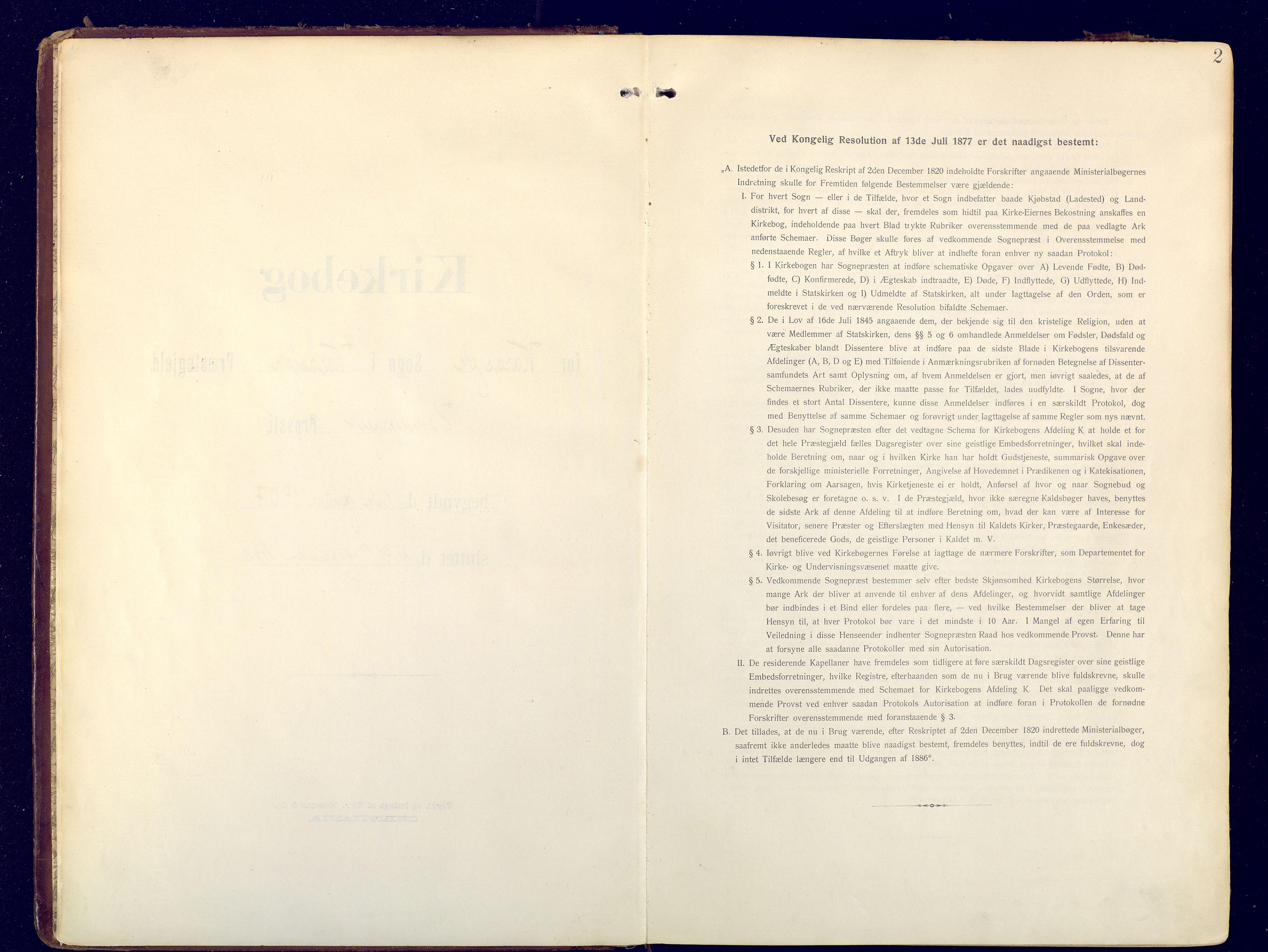 SATØ, Karasjok sokneprestkontor, H/Ha: Ministerialbok nr. 3, 1907-1926, s. 2