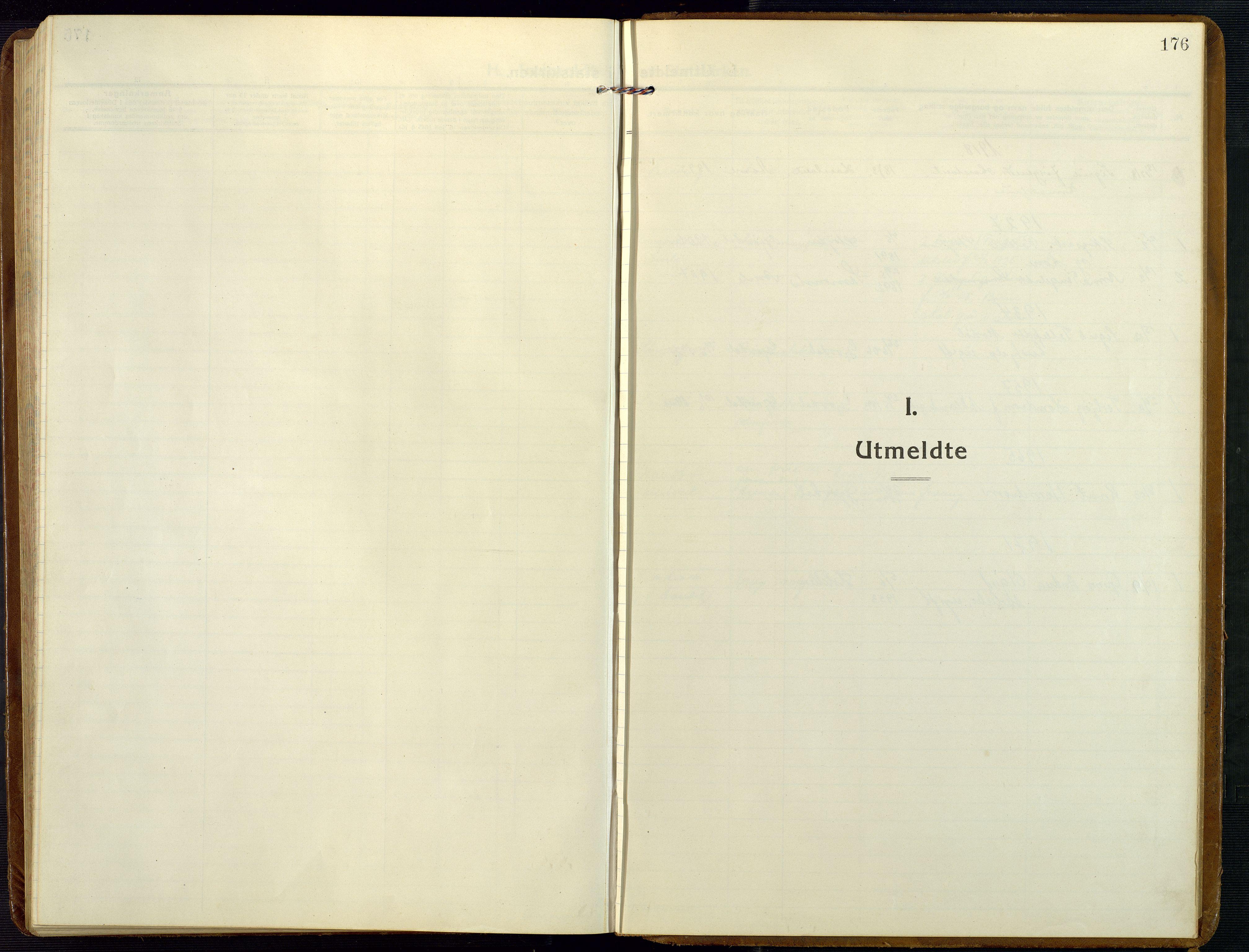 SAK, Åmli sokneprestkontor, F/Fb/Fba/L0003: Klokkerbok nr. B 3, 1912-1974, s. 176