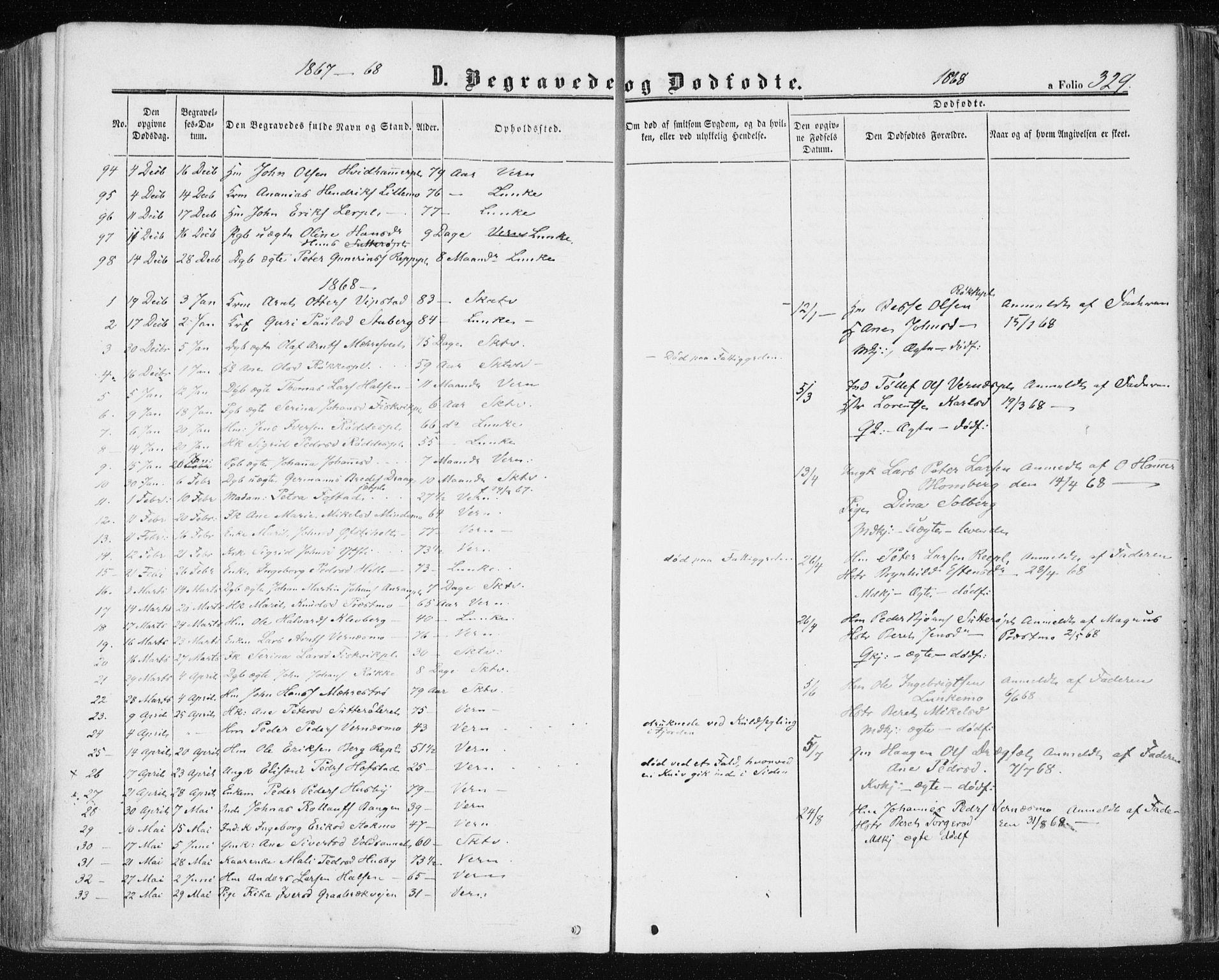SAT, Ministerialprotokoller, klokkerbøker og fødselsregistre - Nord-Trøndelag, 709/L0075: Ministerialbok nr. 709A15, 1859-1870, s. 329