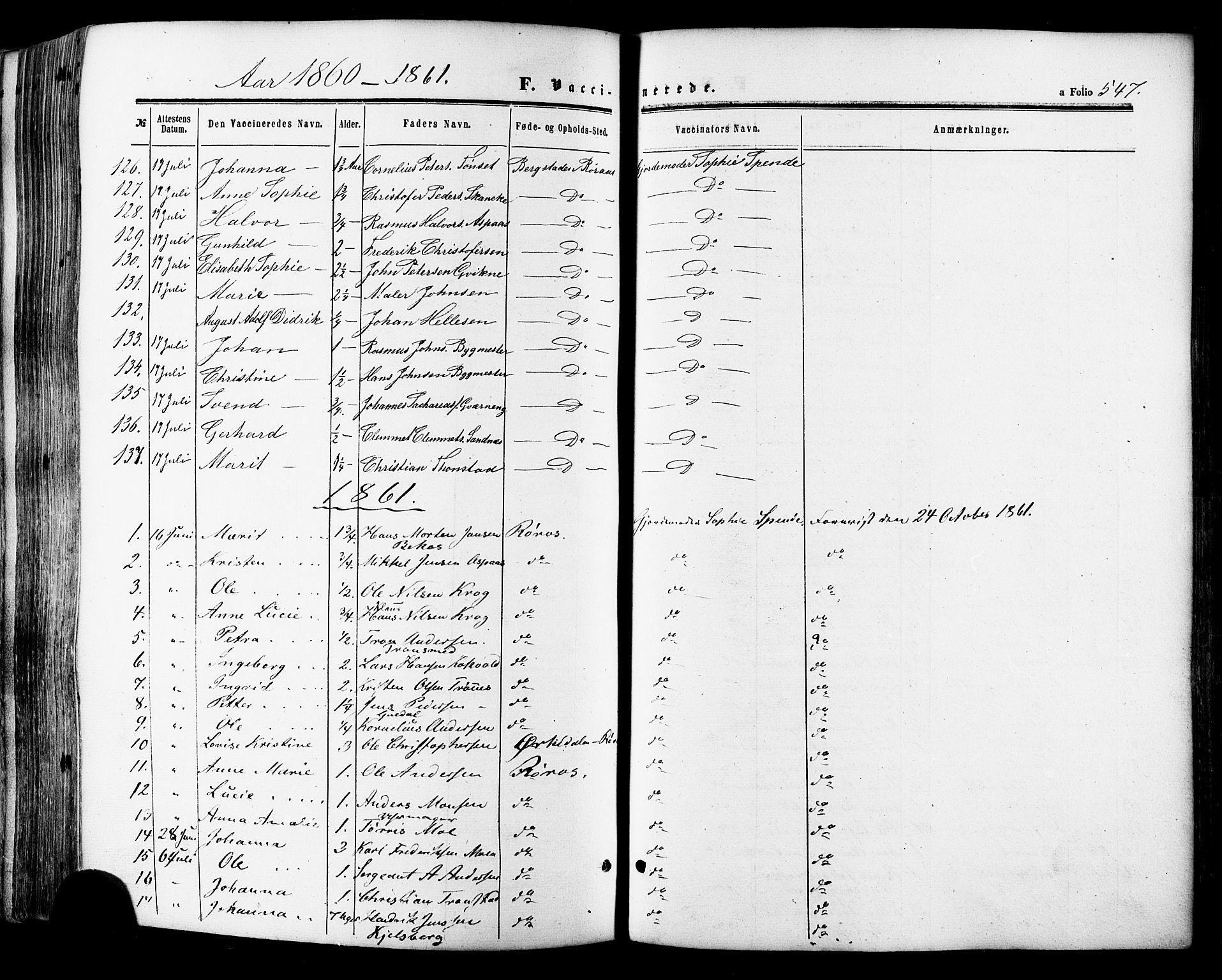 SAT, Ministerialprotokoller, klokkerbøker og fødselsregistre - Sør-Trøndelag, 681/L0932: Ministerialbok nr. 681A10, 1860-1878, s. 547