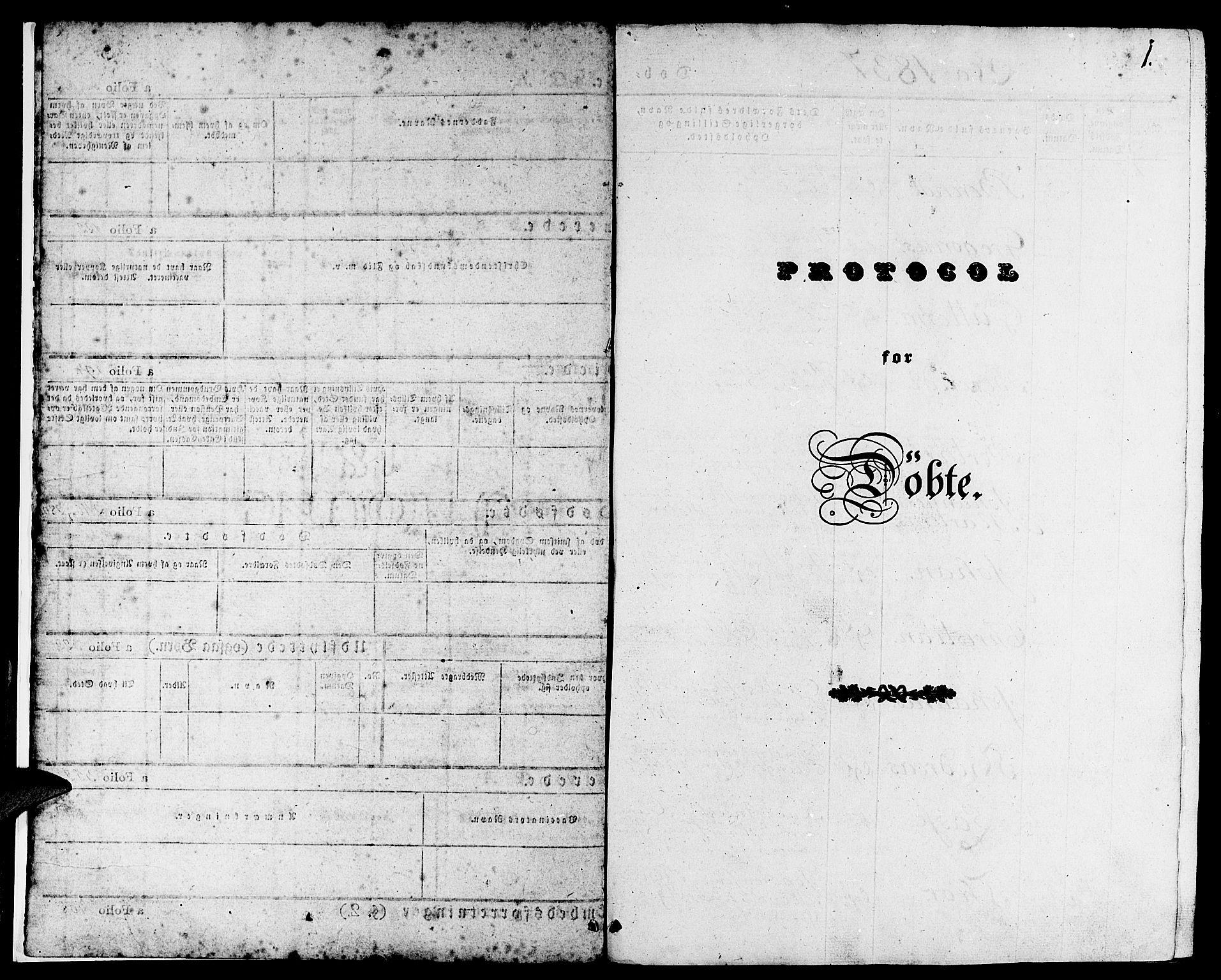 SAB, Gulen Sokneprestembete, Ministerialbok nr. A 20, 1837-1847, s. 1