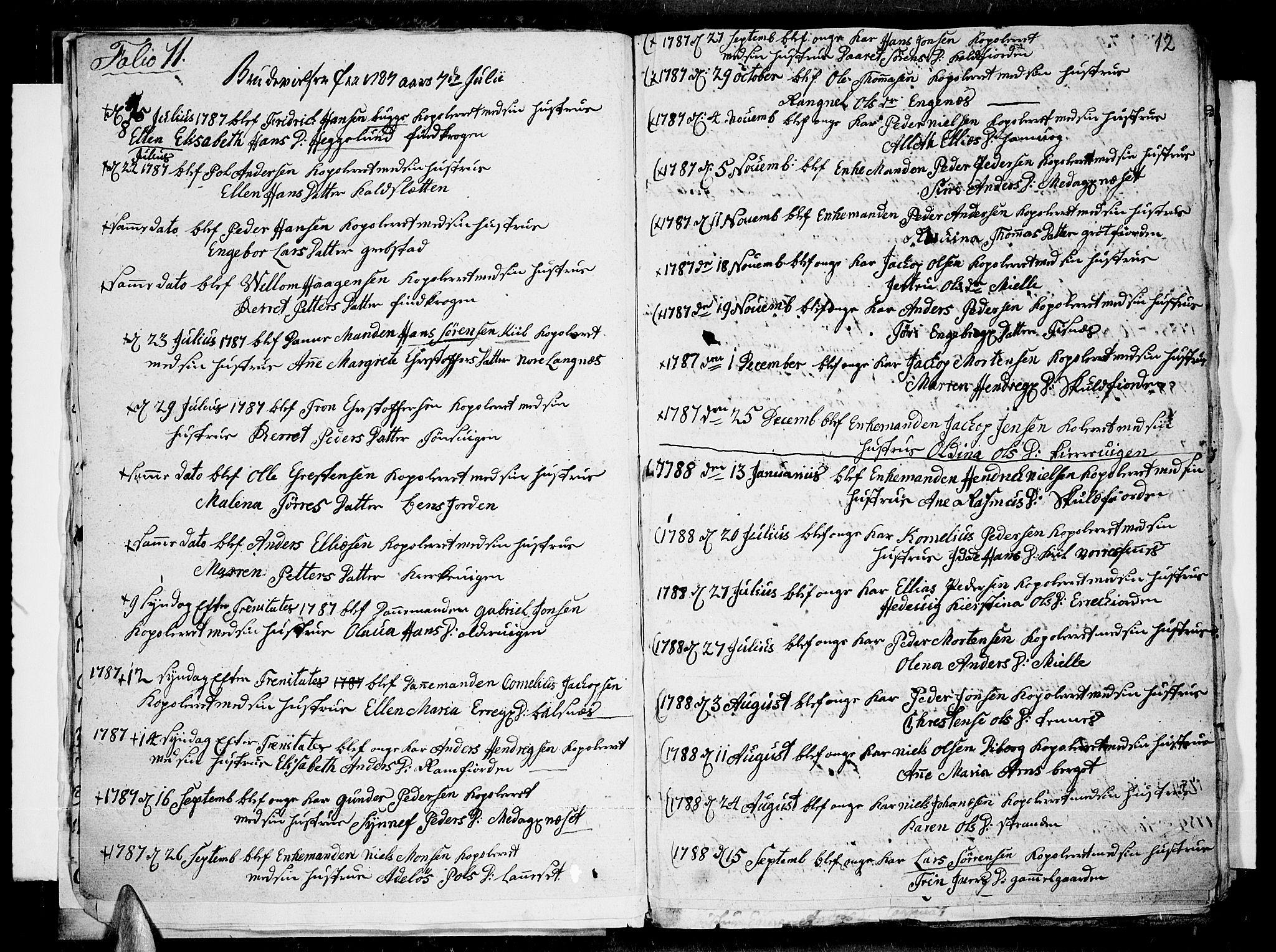 SATØ, Tromsø sokneprestkontor/stiftsprosti/domprosti, G/Ga/L0004kirke: Ministerialbok nr. 4, 1787-1795, s. 12