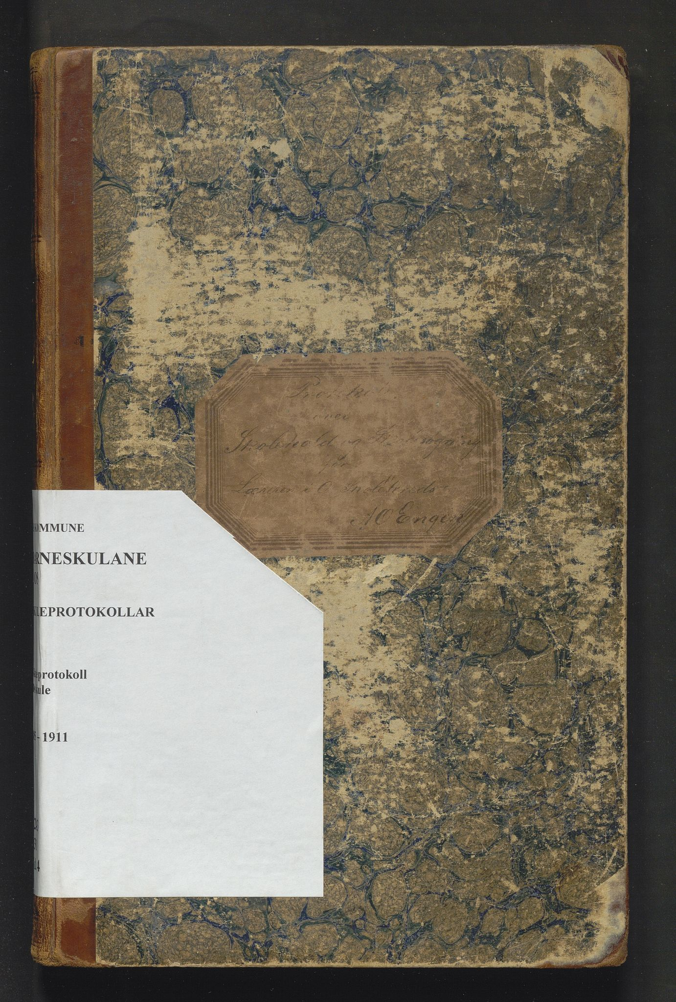 IKAH, Os kommune. Barneskulane, F/Fd/L0004: Skuleprotokoll for Os faste skule, 1885-1911