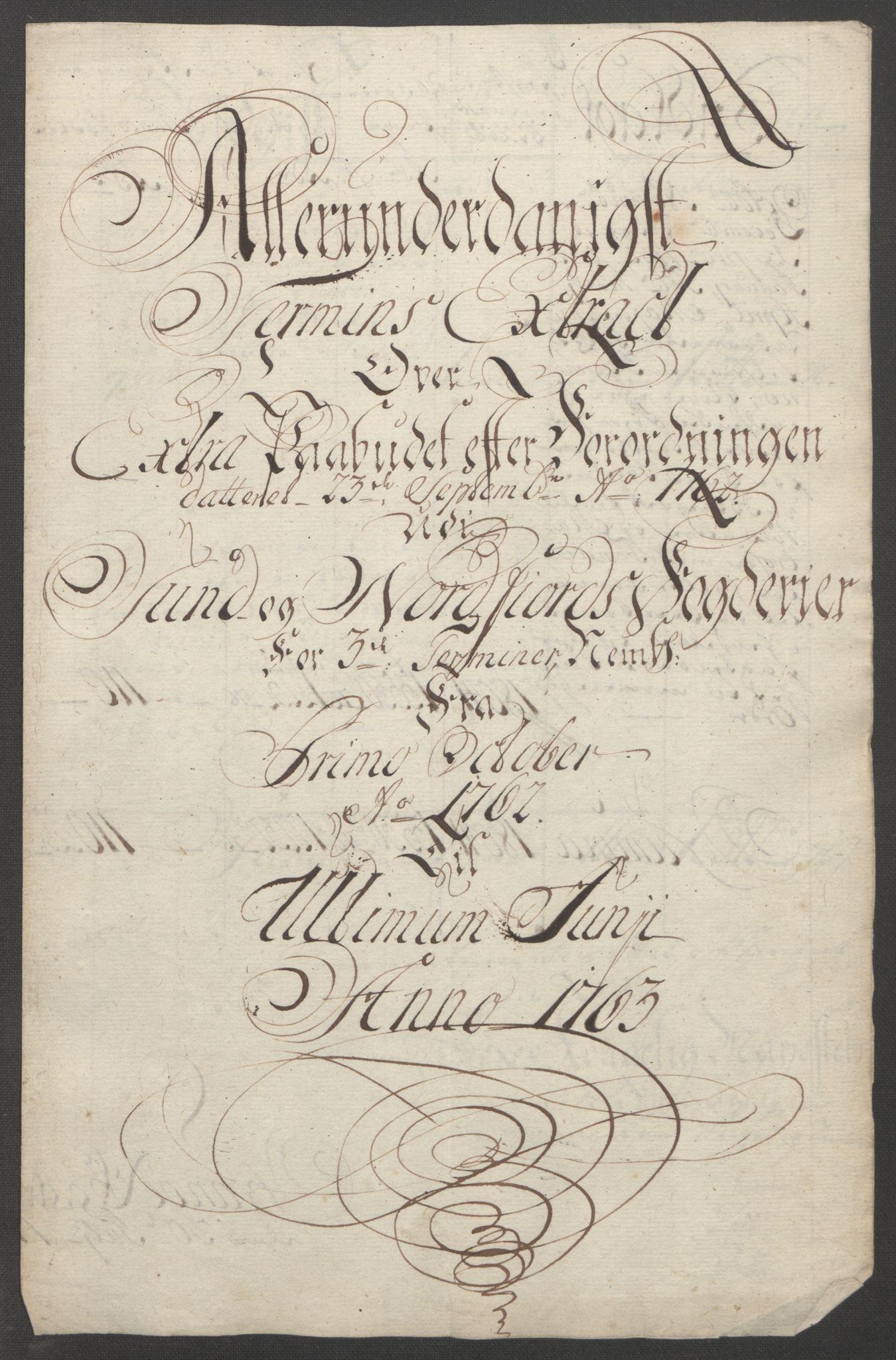 RA, Rentekammeret inntil 1814, Reviderte regnskaper, Fogderegnskap, R53/L3550: Ekstraskatten Sunn- og Nordfjord, 1762-1771, s. 20