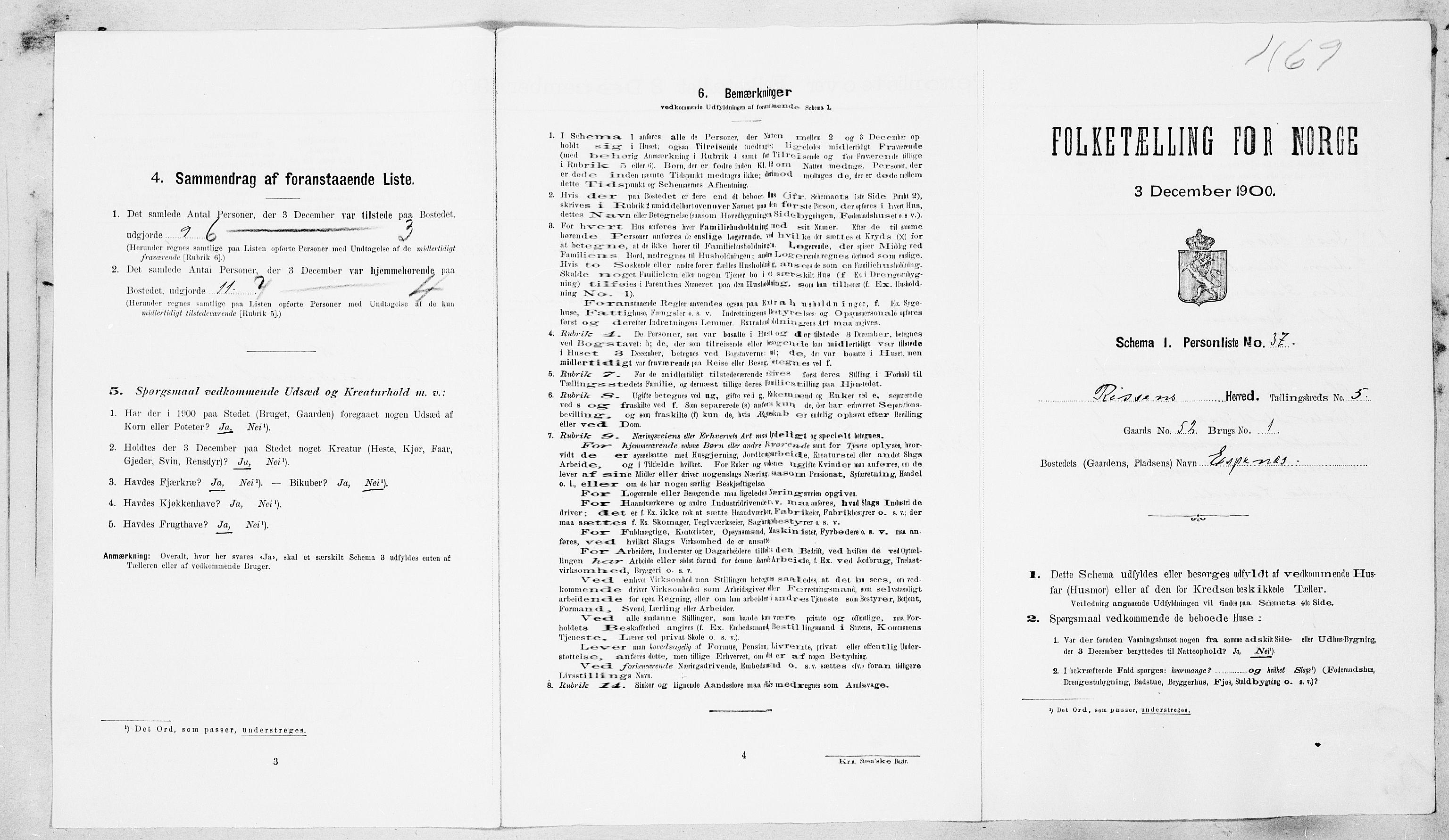 SAT, Folketelling 1900 for 1624 Rissa herred, 1900, s. 642