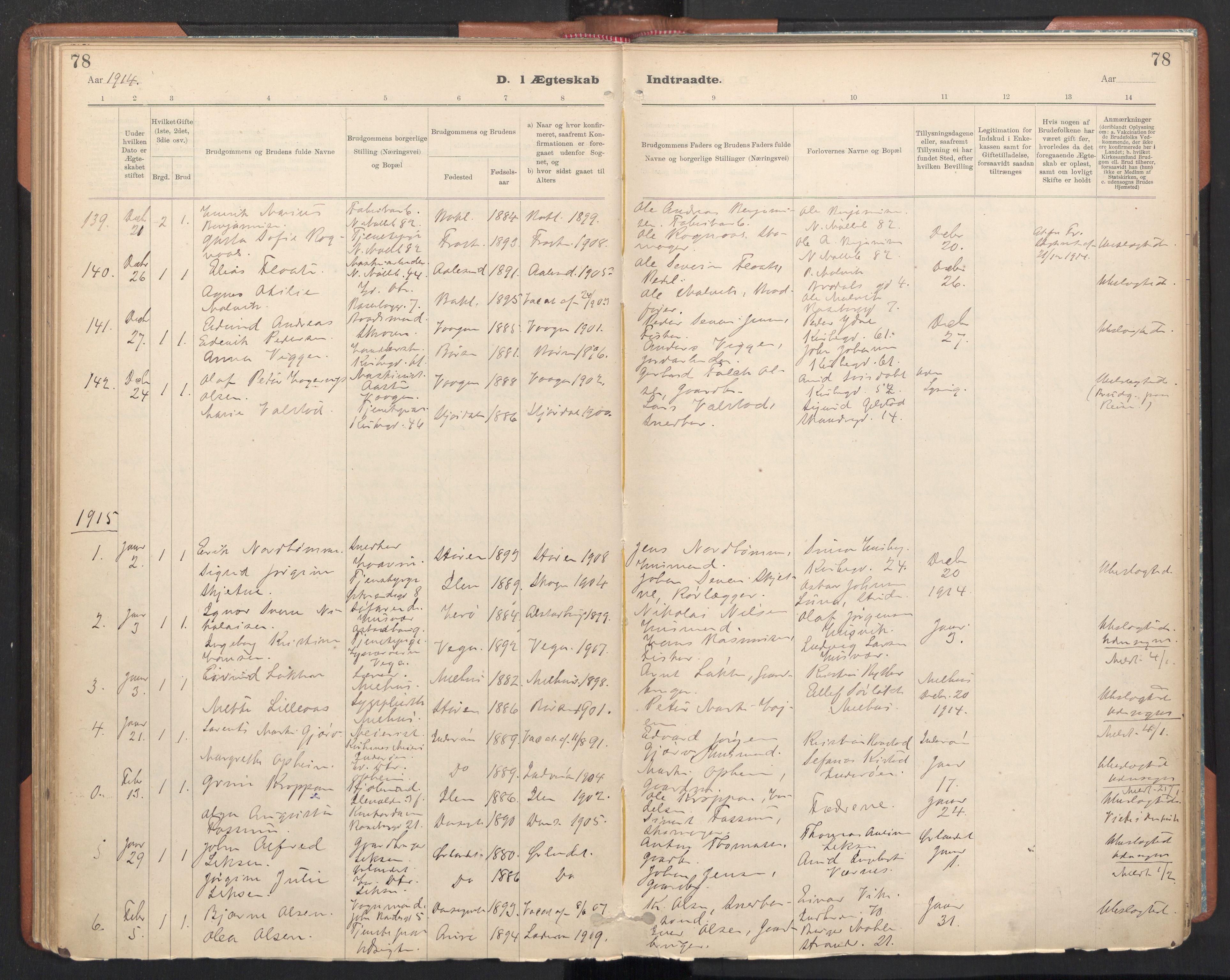 SAT, Ministerialprotokoller, klokkerbøker og fødselsregistre - Sør-Trøndelag, 605/L0244: Ministerialbok nr. 605A06, 1908-1954, s. 78