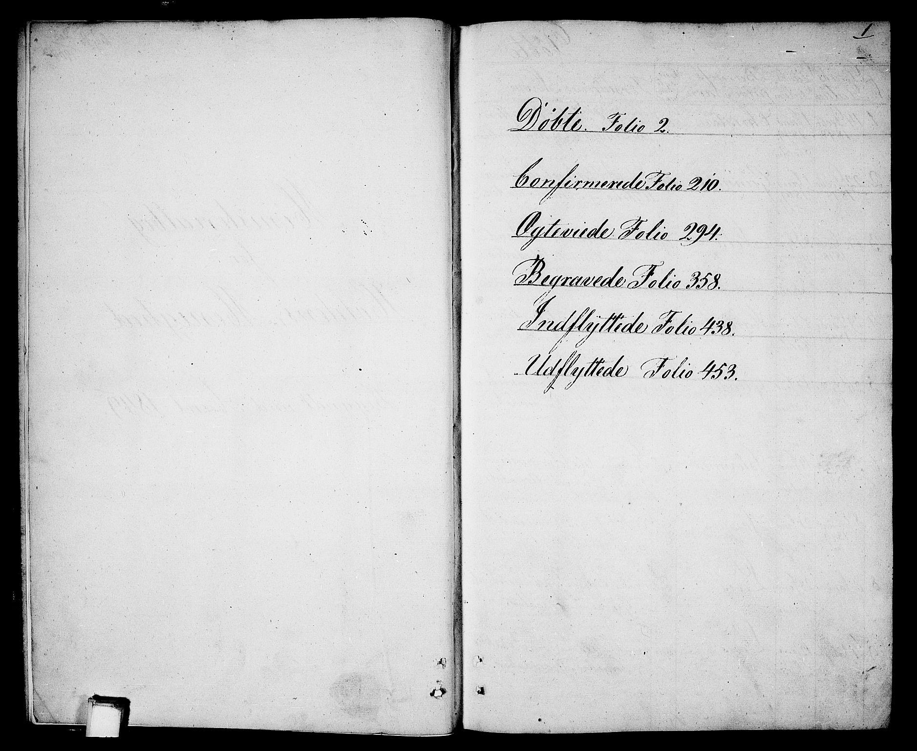 SAKO, Holla kirkebøker, G/Ga/L0003: Klokkerbok nr. I 3, 1849-1866, s. 1