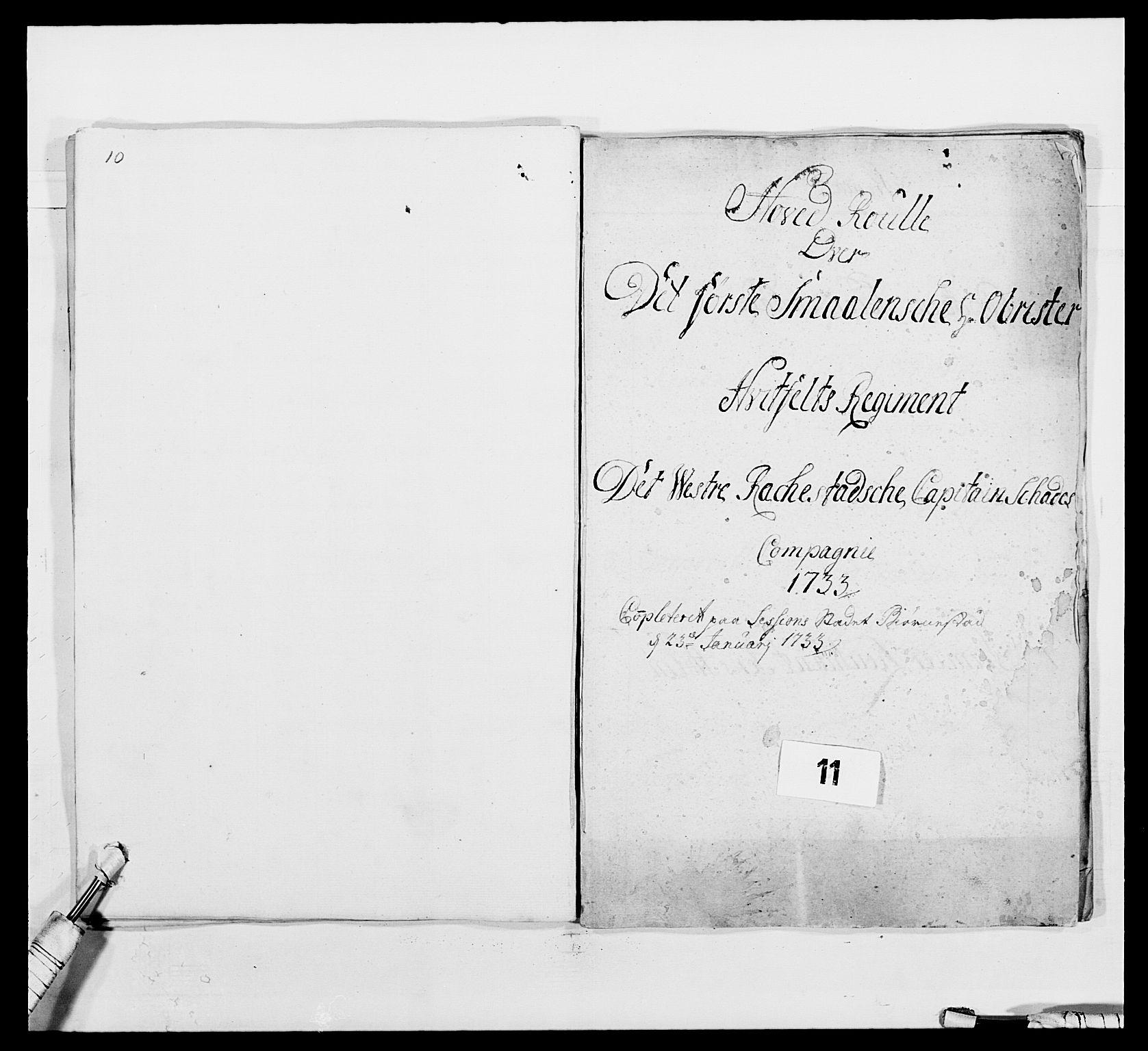 RA, Kommanderende general (KG I) med Det norske krigsdirektorium, E/Ea/L0495: 1. Smålenske regiment, 1732-1763, s. 117