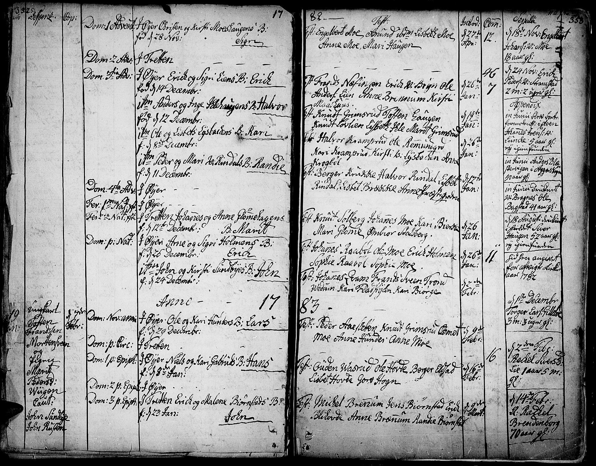 SAH, Øyer prestekontor, Ministerialbok nr. 2, 1733-1784, s. 352-353
