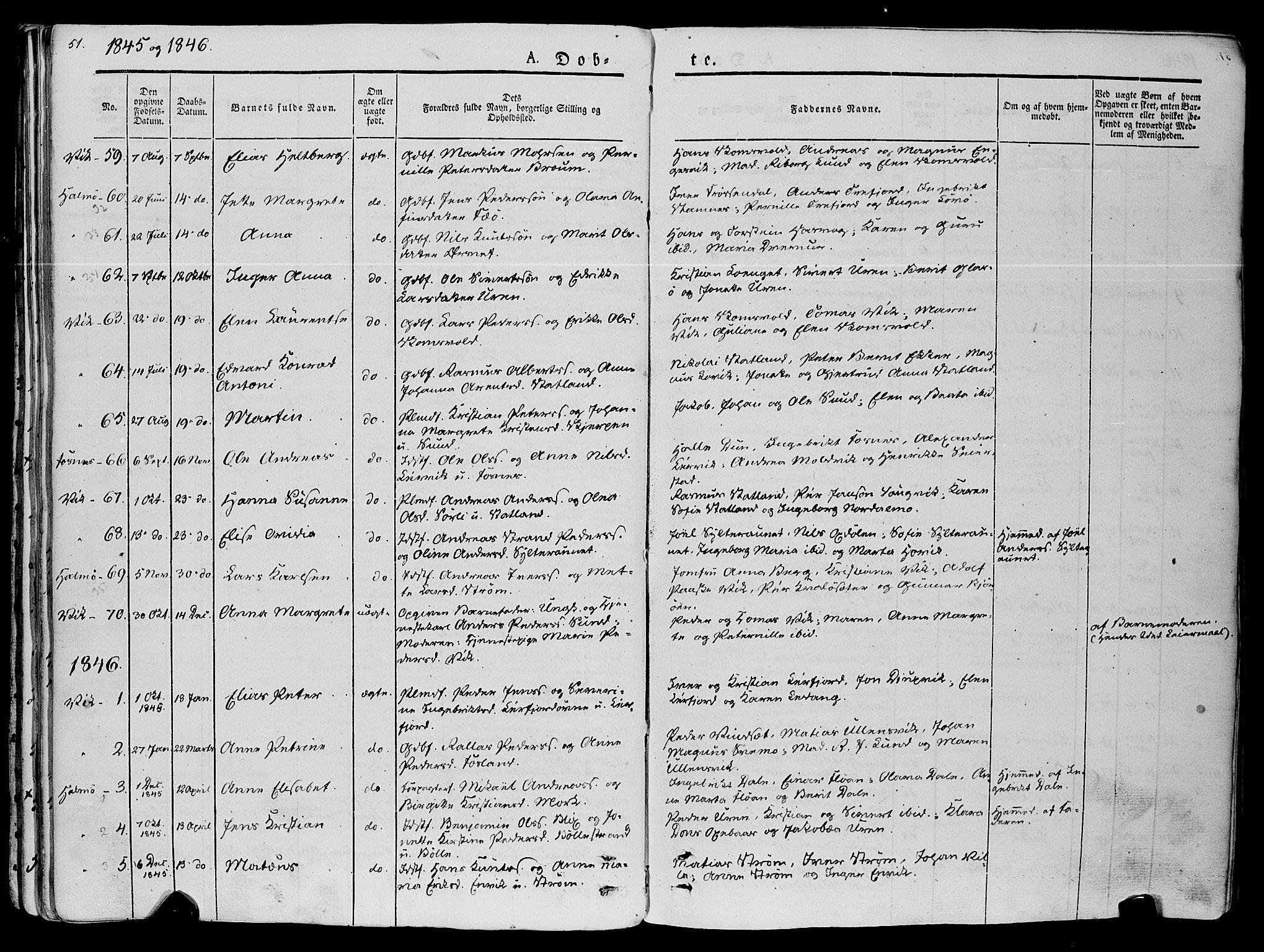 SAT, Ministerialprotokoller, klokkerbøker og fødselsregistre - Nord-Trøndelag, 773/L0614: Ministerialbok nr. 773A05, 1831-1856, s. 51