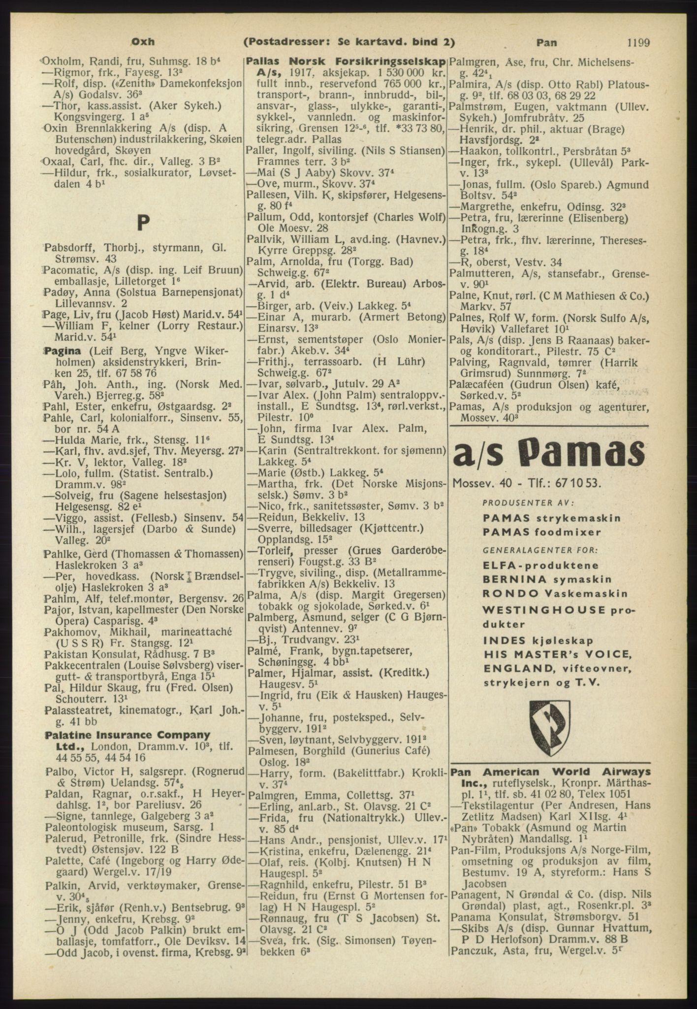 RA, Oslo adressebok (publikasjon)*, 1960-1961, s. 1199