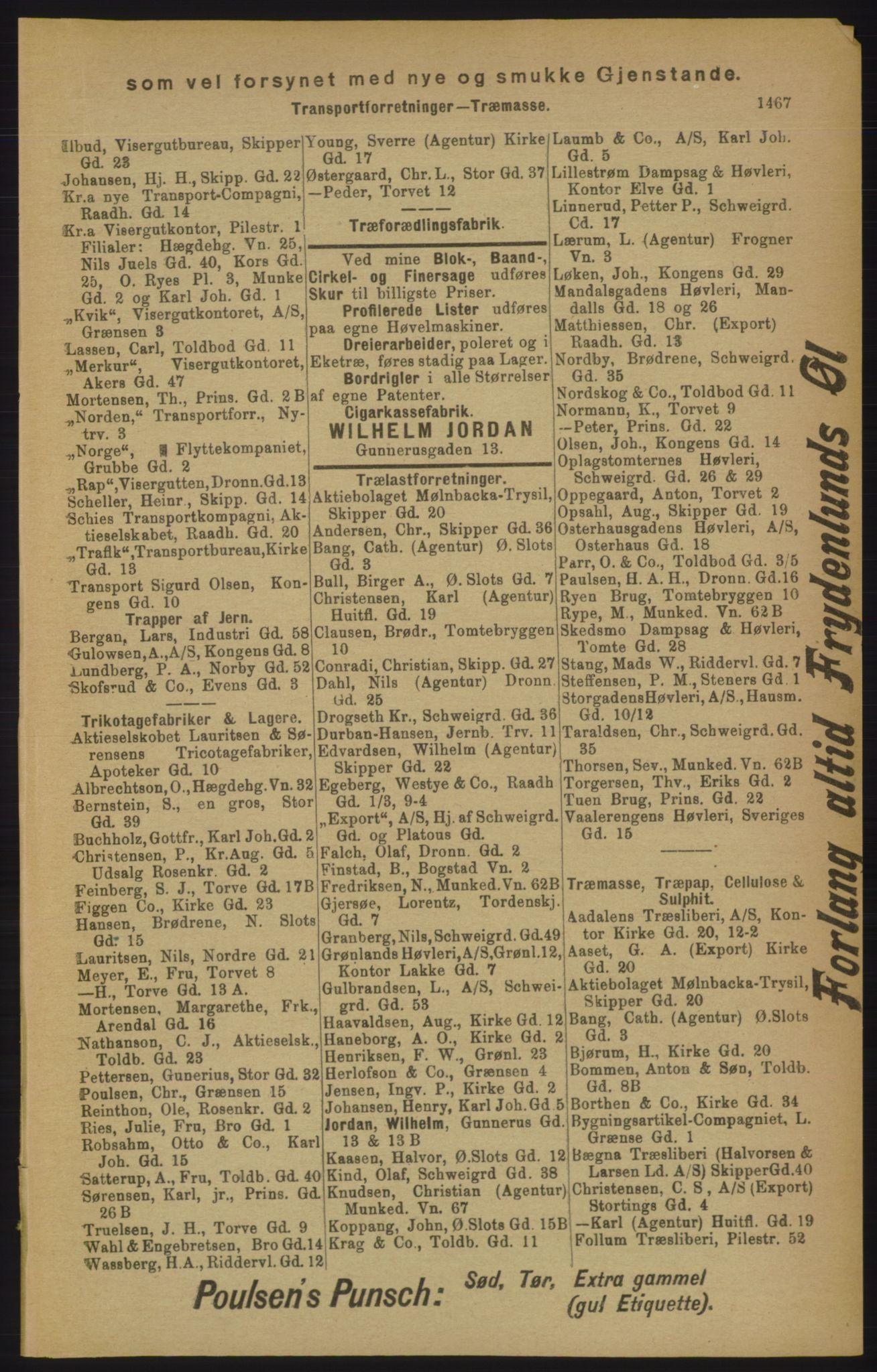 PUBL, Kristiania/Oslo adressebok, 1906, s. 1467