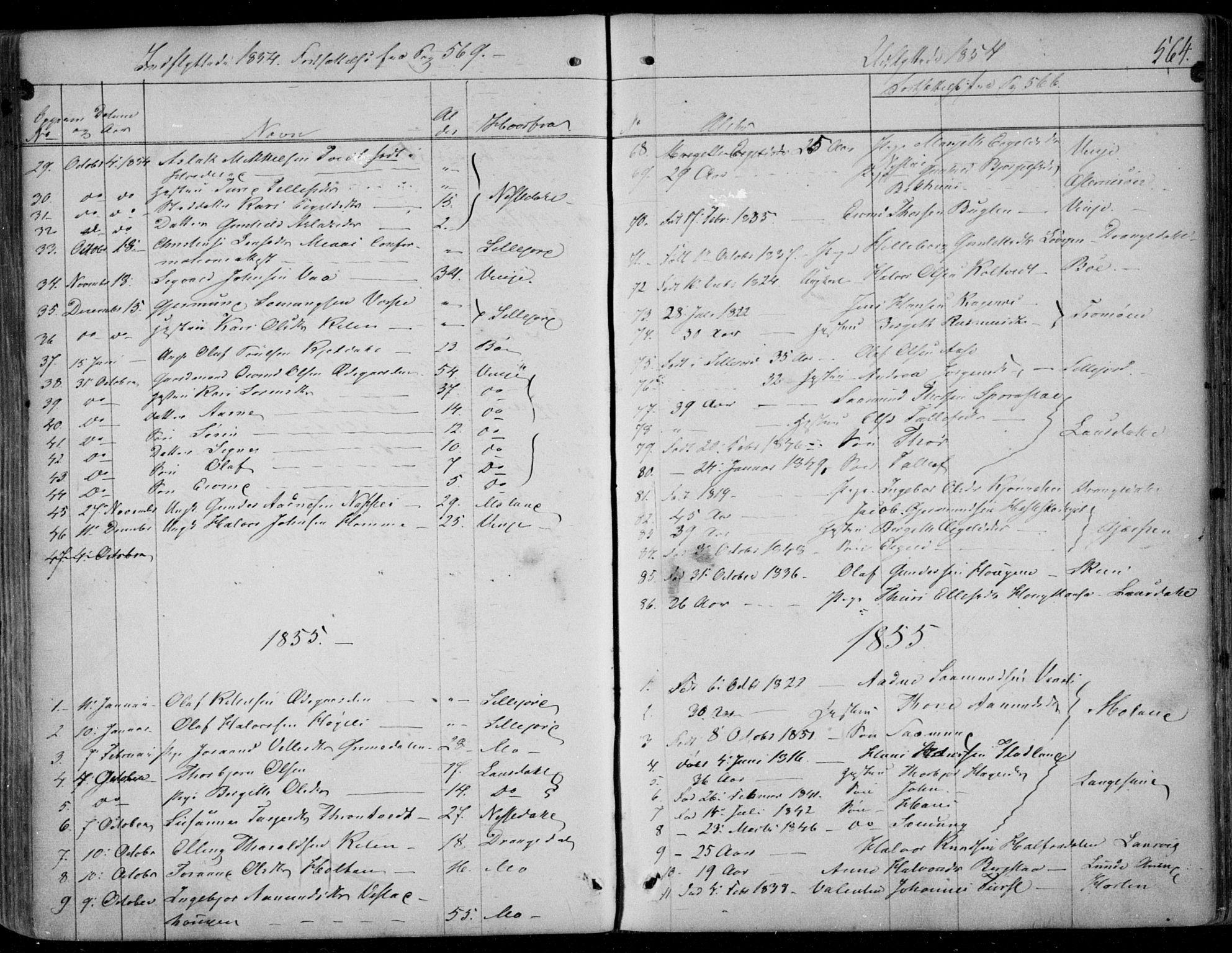 SAKO, Kviteseid kirkebøker, F/Fa/L0006: Ministerialbok nr. I 6, 1836-1858, s. 564