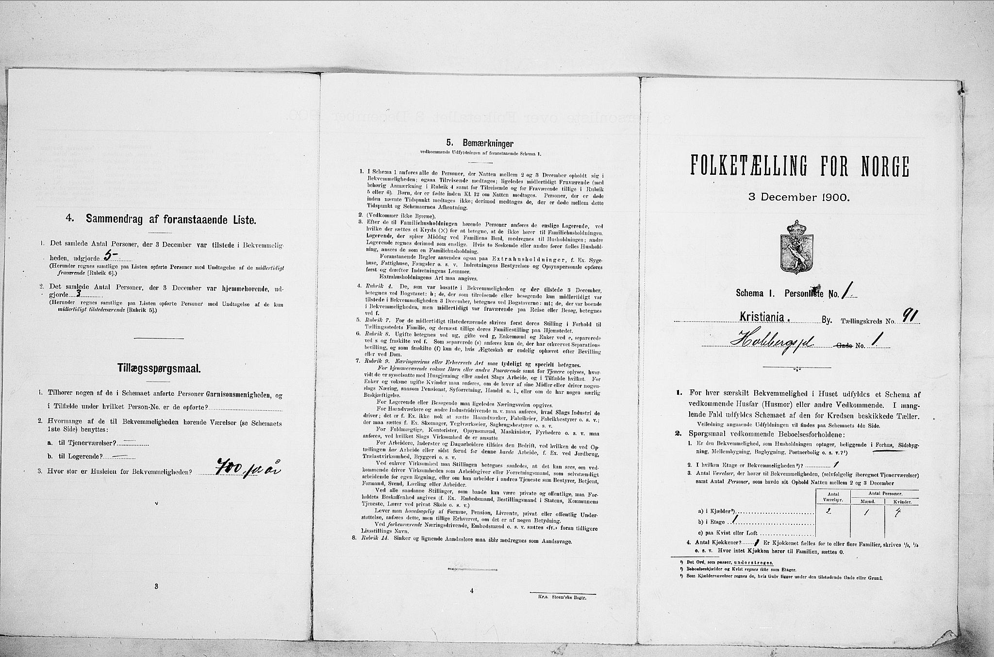 SAO, Folketelling 1900 for 0301 Kristiania kjøpstad, 1900, s. 38246
