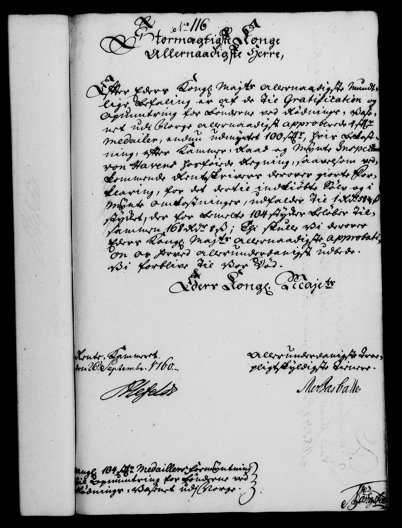 RA, Rentekammeret, Kammerkanselliet, G/Gf/Gfa/L0042: Norsk relasjons- og resolusjonsprotokoll (merket RK 52.42), 1760, s. 427