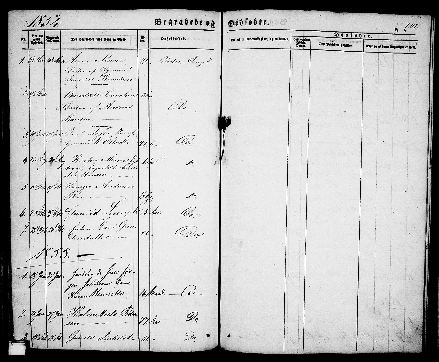 SAKO, Porsgrunn kirkebøker , G/Ga/L0002: Klokkerbok nr. I 2, 1847-1877, s. 202