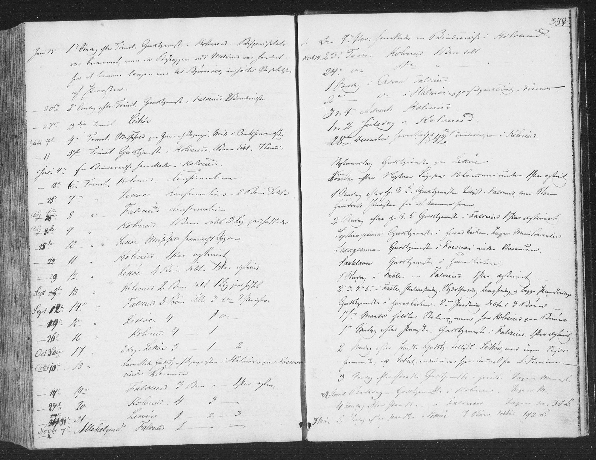 SAT, Ministerialprotokoller, klokkerbøker og fødselsregistre - Nord-Trøndelag, 780/L0639: Ministerialbok nr. 780A04, 1830-1844, s. 332