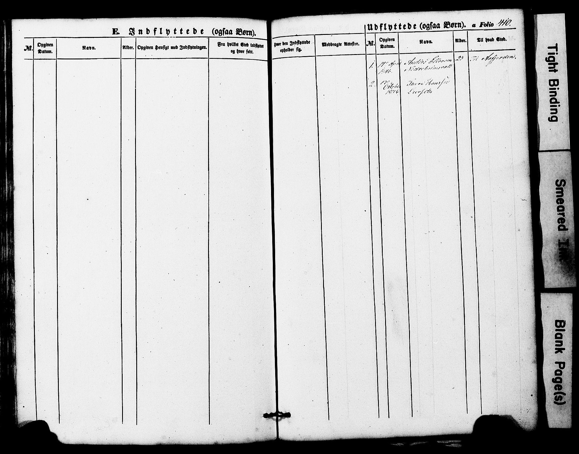 SAT, Ministerialprotokoller, klokkerbøker og fødselsregistre - Nord-Trøndelag, 724/L0268: Klokkerbok nr. 724C04, 1846-1878, s. 410