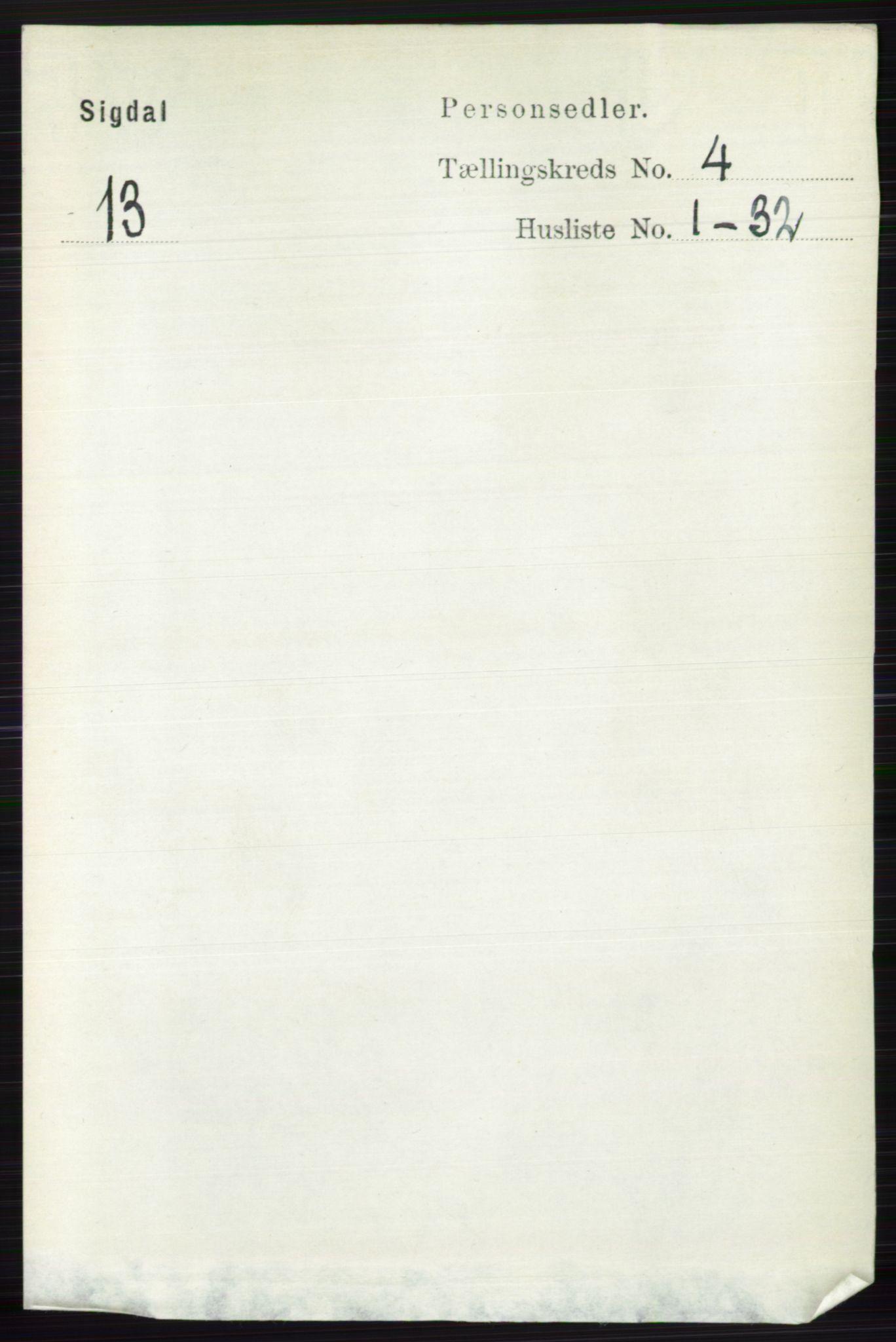 RA, Folketelling 1891 for 0621 Sigdal herred, 1891, s. 1650