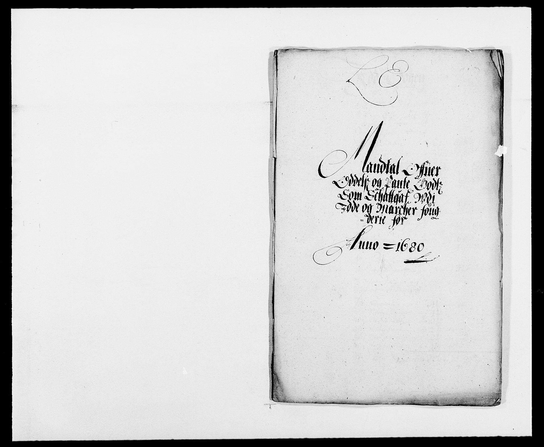 RA, Rentekammeret inntil 1814, Reviderte regnskaper, Fogderegnskap, R01/L0002: Fogderegnskap Idd og Marker, 1680-1681, s. 184
