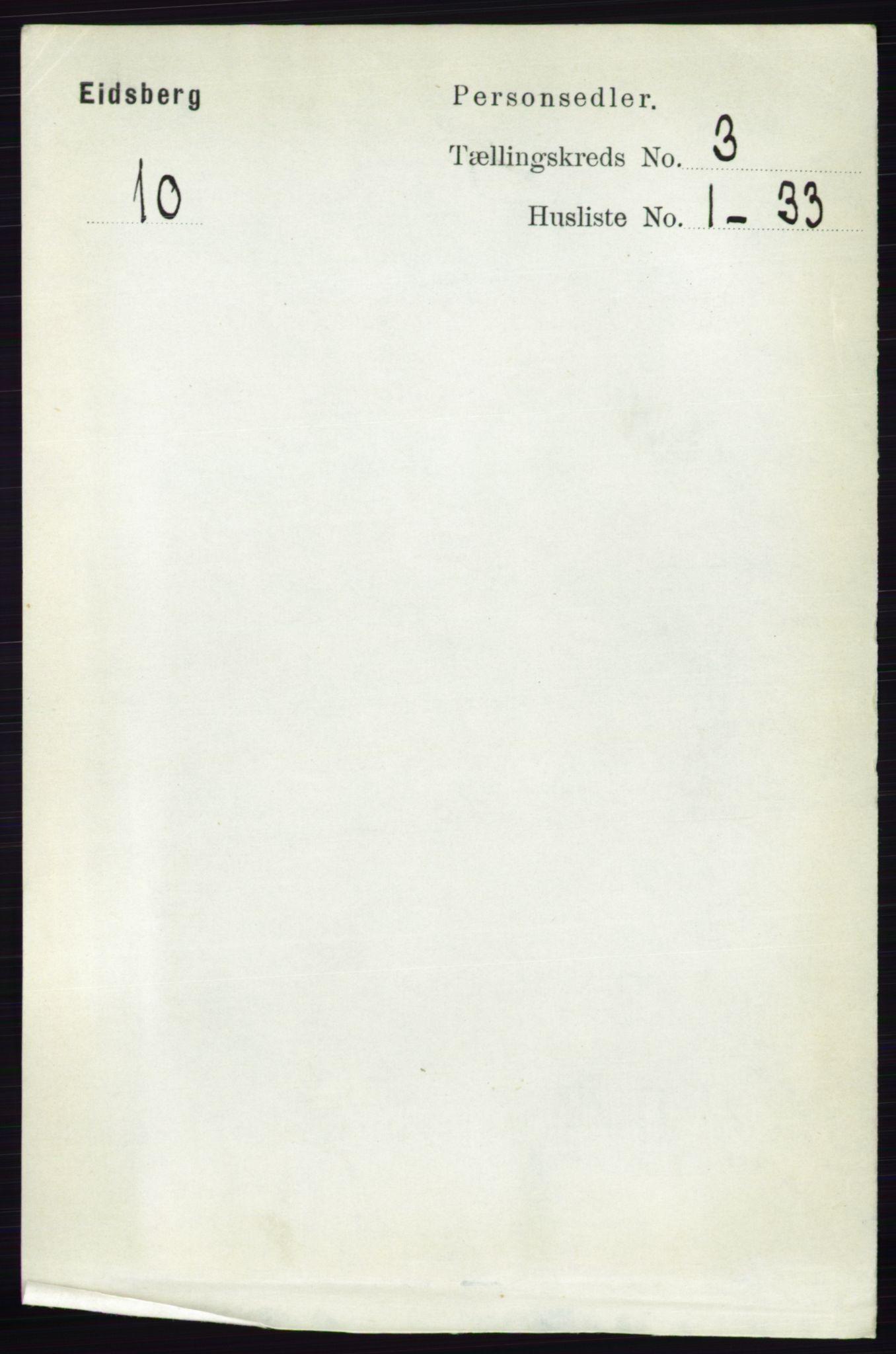RA, Folketelling 1891 for 0125 Eidsberg herred, 1891, s. 1454