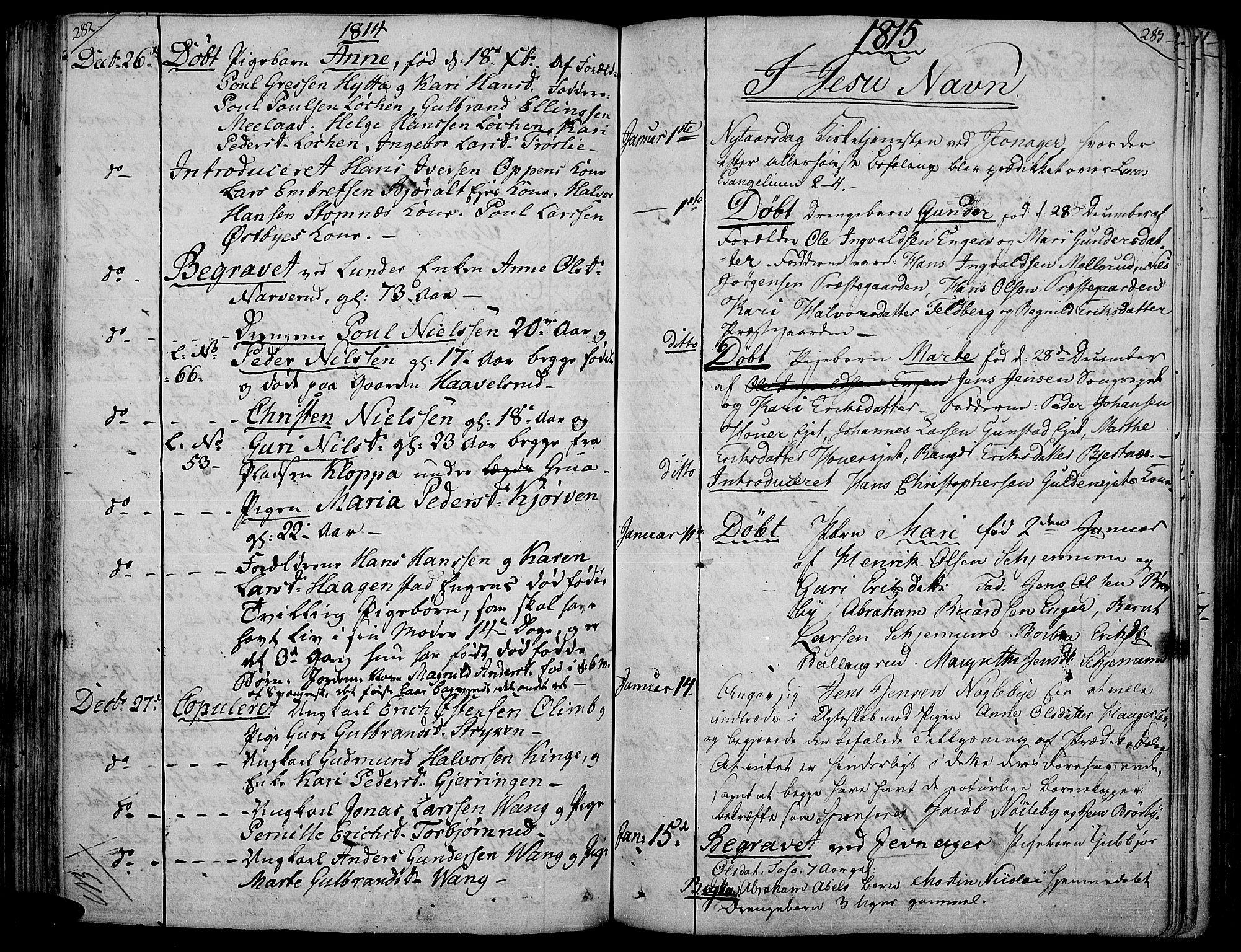SAH, Jevnaker prestekontor, Ministerialbok nr. 4, 1800-1861, s. 282-283