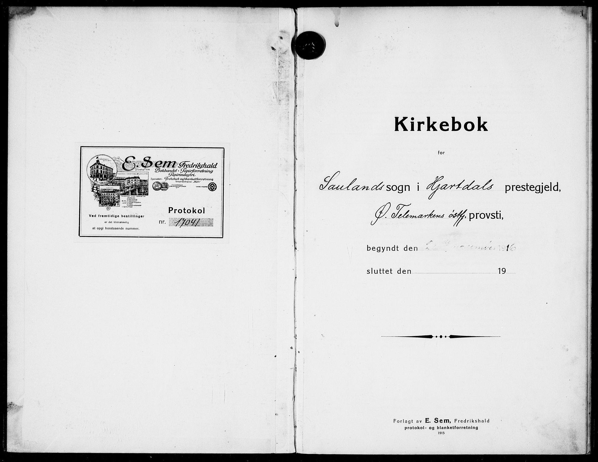 SAKO, Hjartdal kirkebøker, F/Fb/L0003: Ministerialbok nr. II 3, 1920-1932, s. 1