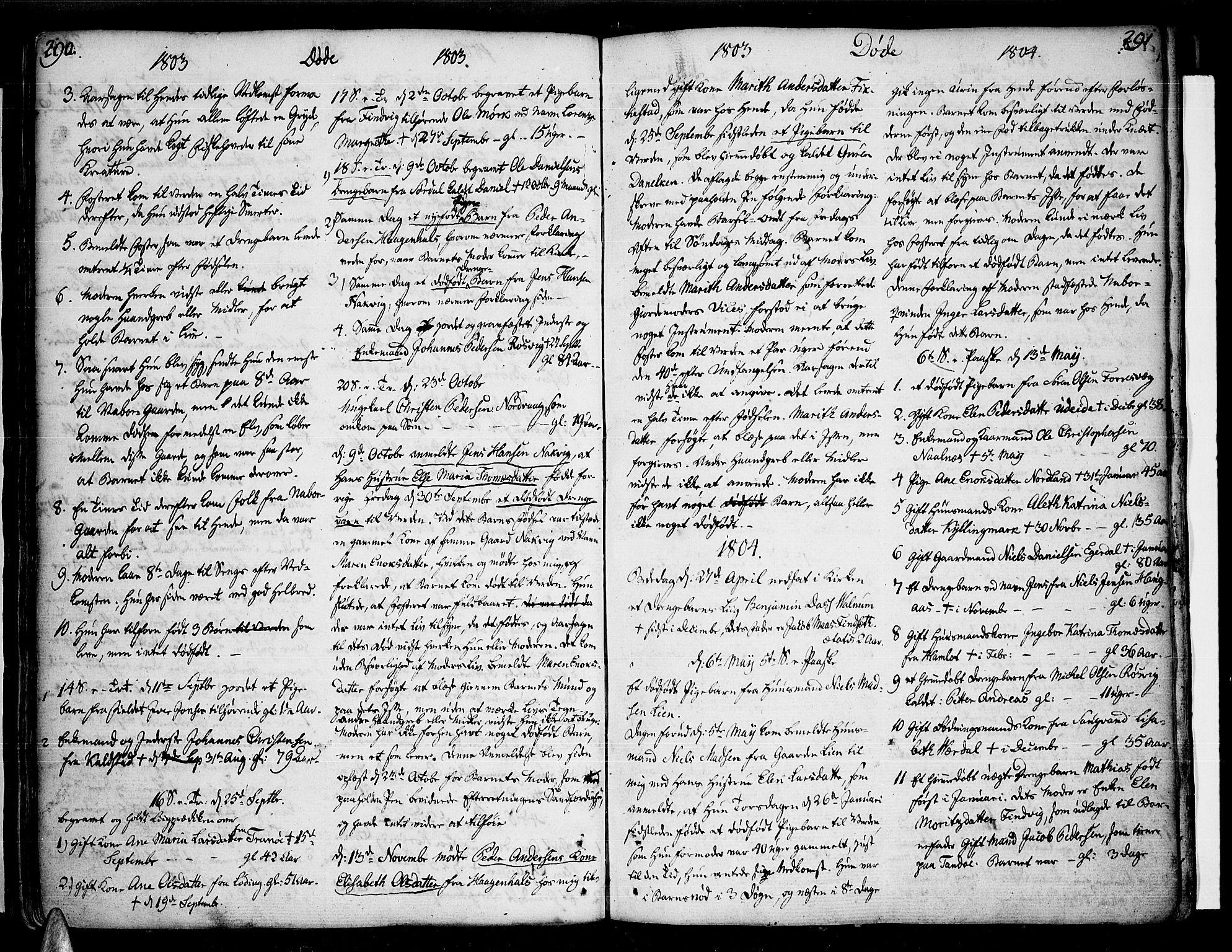 SAT, Ministerialprotokoller, klokkerbøker og fødselsregistre - Nordland, 859/L0841: Ministerialbok nr. 859A01, 1766-1821, s. 290-291