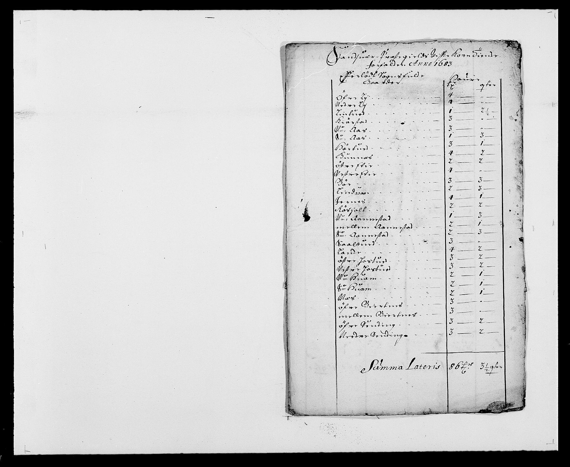 RA, Rentekammeret inntil 1814, Reviderte regnskaper, Fogderegnskap, R24/L1570: Fogderegnskap Numedal og Sandsvær, 1679-1686, s. 362