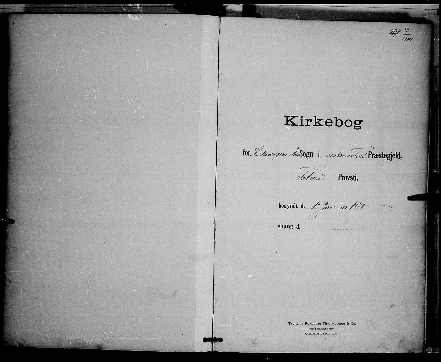 SAH, Vestre Toten prestekontor, Klokkerbok nr. 9, 1888-1900