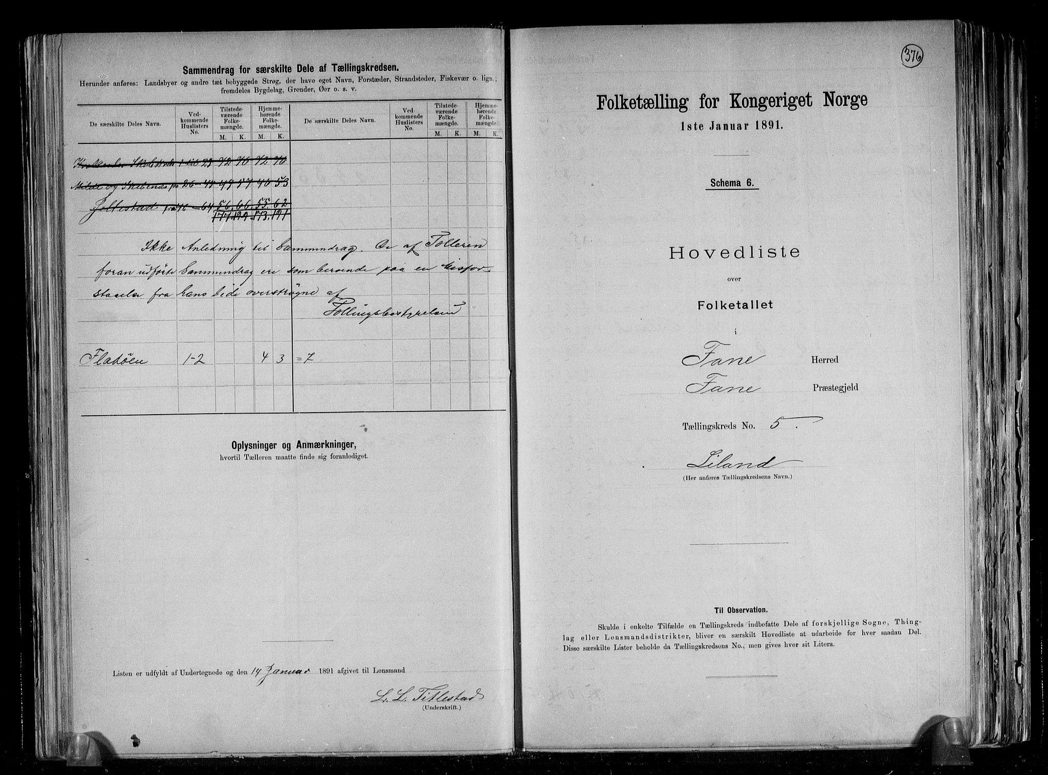 RA, Folketelling 1891 for 1249 Fana herred, 1891, s. 12