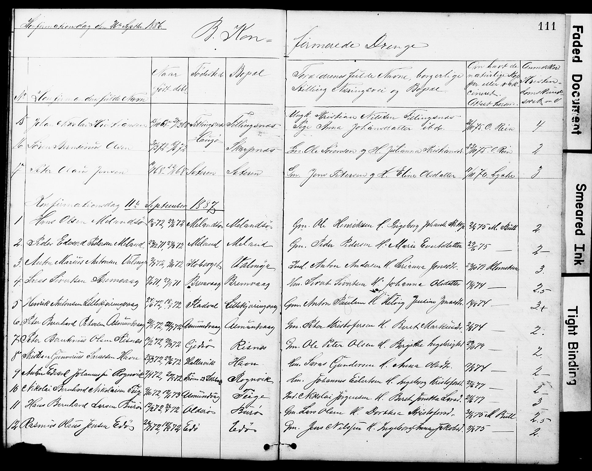 SAT, Ministerialprotokoller, klokkerbøker og fødselsregistre - Sør-Trøndelag, 634/L0541: Klokkerbok nr. 634C03, 1874-1891, s. 111