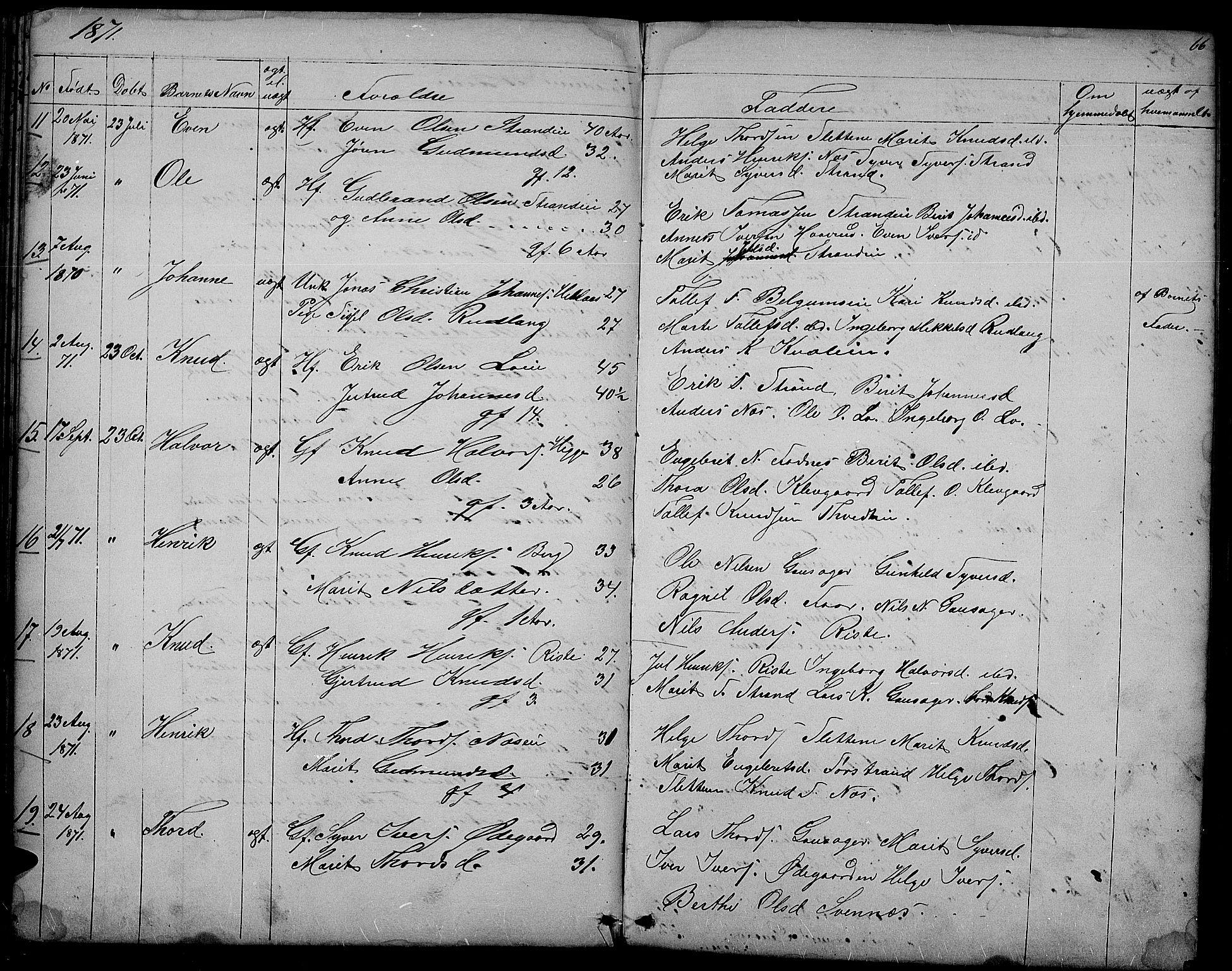 SAH, Nord-Aurdal prestekontor, Klokkerbok nr. 3, 1842-1882, s. 66