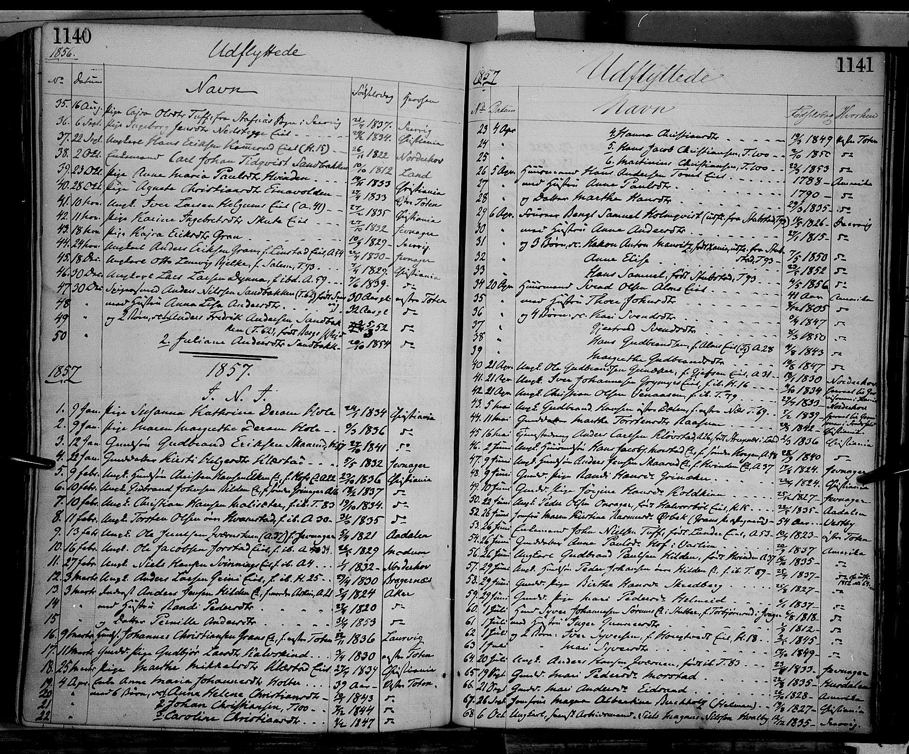 SAH, Gran prestekontor, Ministerialbok nr. 12, 1856-1874, s. 1140-1141