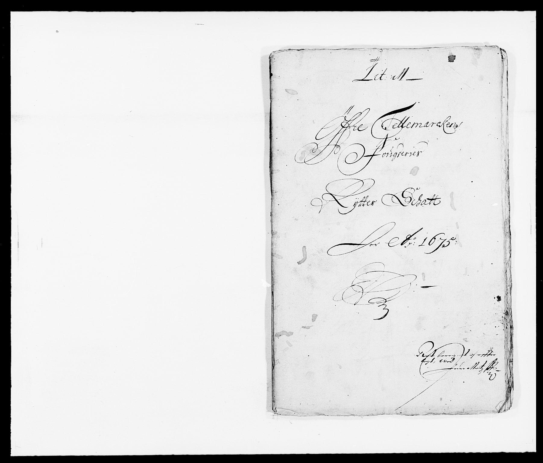 RA, Rentekammeret inntil 1814, Reviderte regnskaper, Fogderegnskap, R35/L2064: Fogderegnskap Øvre og Nedre Telemark, 1675, s. 1