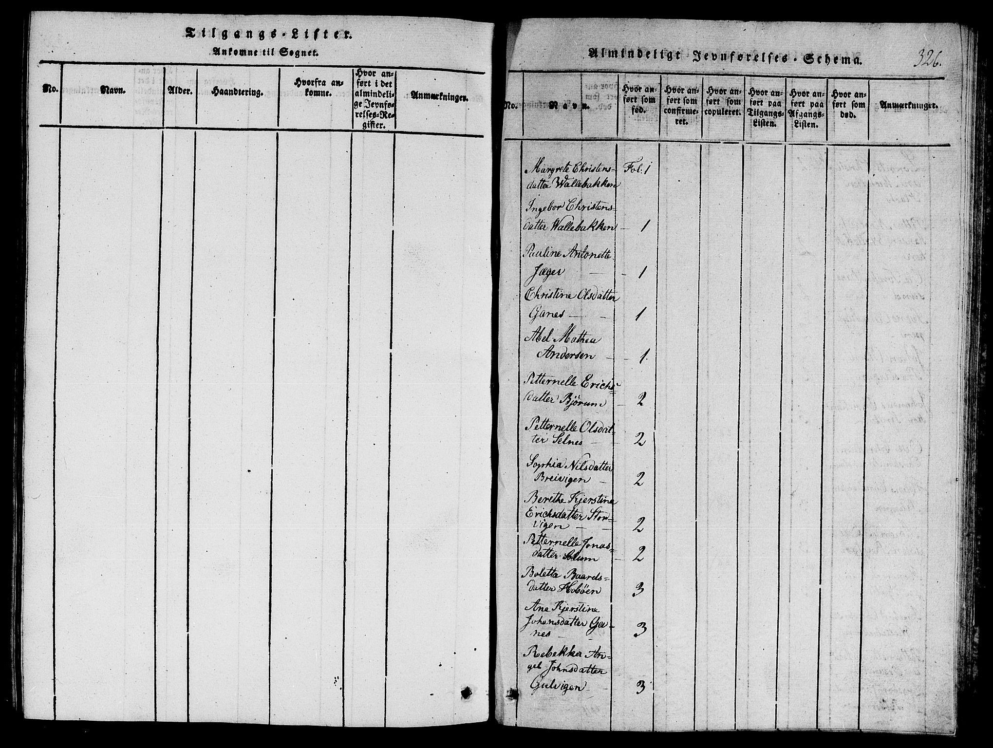 SAT, Ministerialprotokoller, klokkerbøker og fødselsregistre - Nord-Trøndelag, 770/L0588: Ministerialbok nr. 770A02, 1819-1823, s. 326