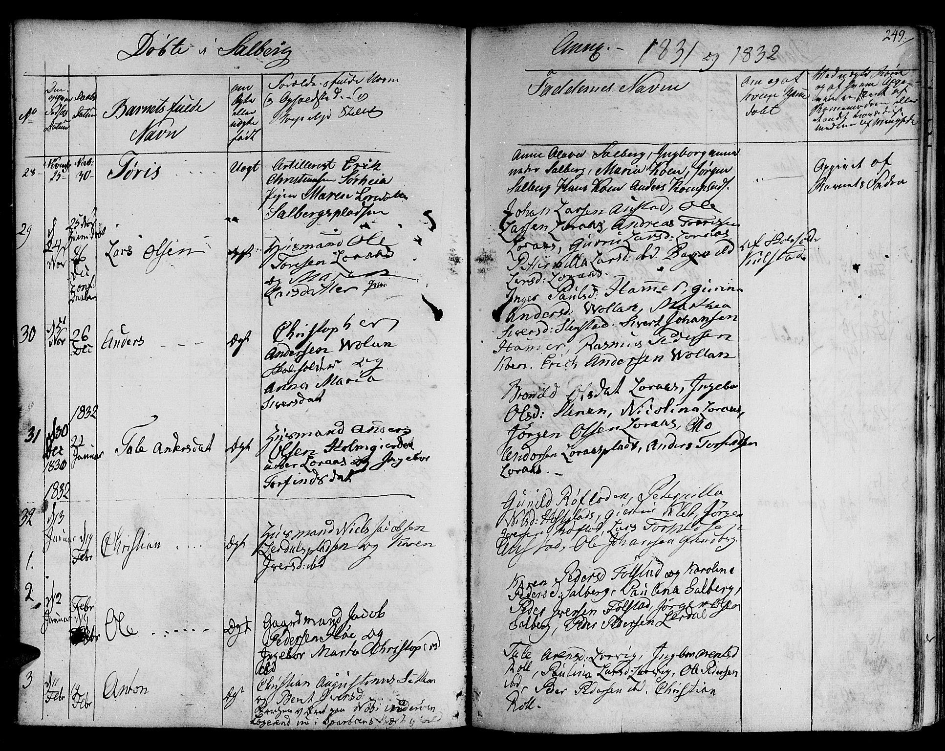 SAT, Ministerialprotokoller, klokkerbøker og fødselsregistre - Nord-Trøndelag, 730/L0277: Ministerialbok nr. 730A06 /2, 1831-1839, s. 249