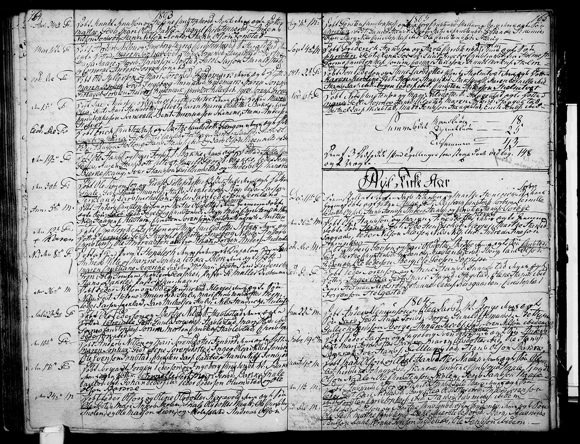 SAKO, Våle kirkebøker, F/Fa/L0005: Ministerialbok nr. I 5, 1773-1808, s. 164-165