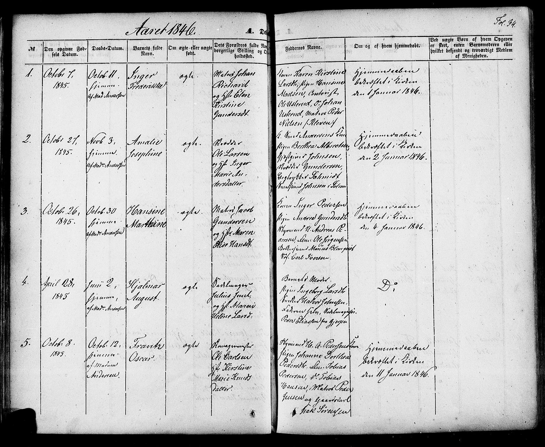 SAKO, Skien kirkebøker, F/Fa/L0006a: Ministerialbok nr. 6A, 1843-1856, s. 34