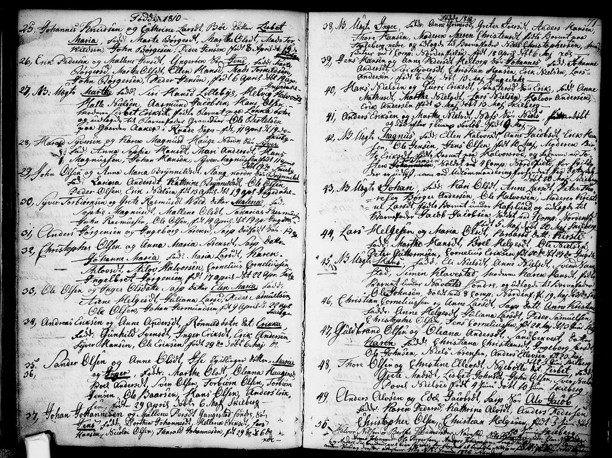 SAO, Skjeberg prestekontor Kirkebøker, F/Fa/L0003: Ministerialbok nr. I 3, 1792-1814, s. 71