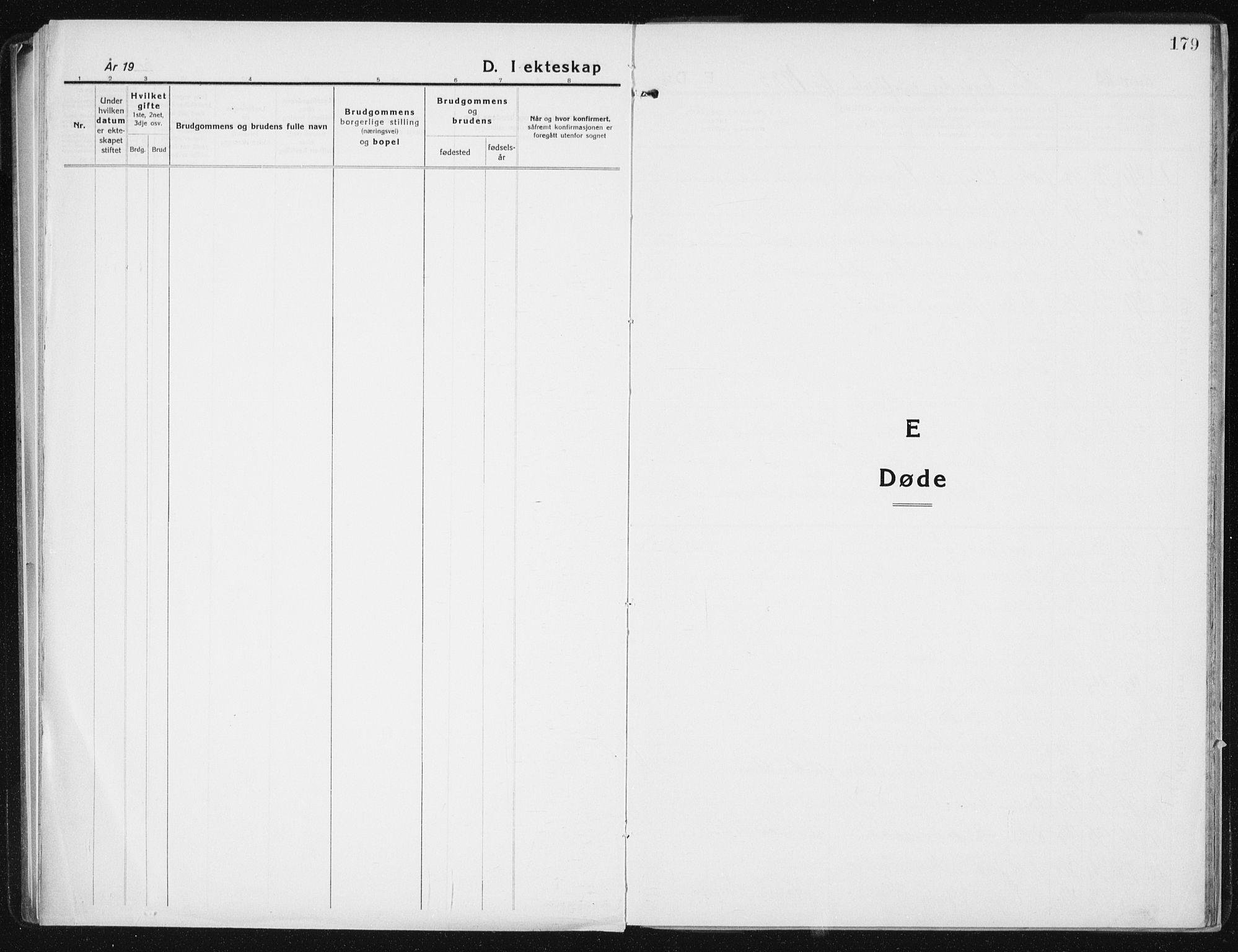 SAT, Ministerialprotokoller, klokkerbøker og fødselsregistre - Sør-Trøndelag, 640/L0589: Klokkerbok nr. 640C06, 1922-1934, s. 179