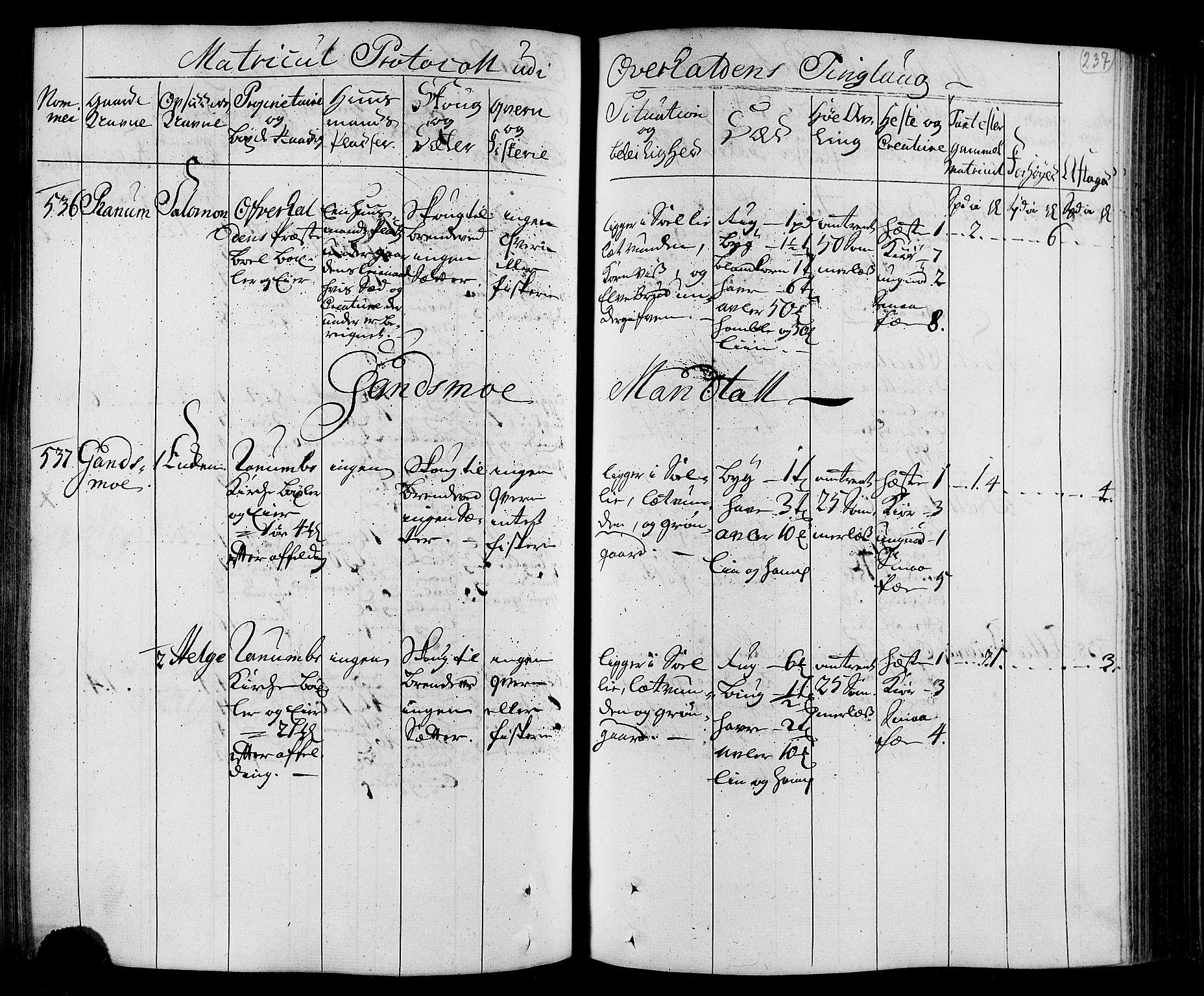 RA, Rentekammeret inntil 1814, Realistisk ordnet avdeling, N/Nb/Nbf/L0168: Namdalen eksaminasjonsprotokoll, 1723, s. 236b-237a
