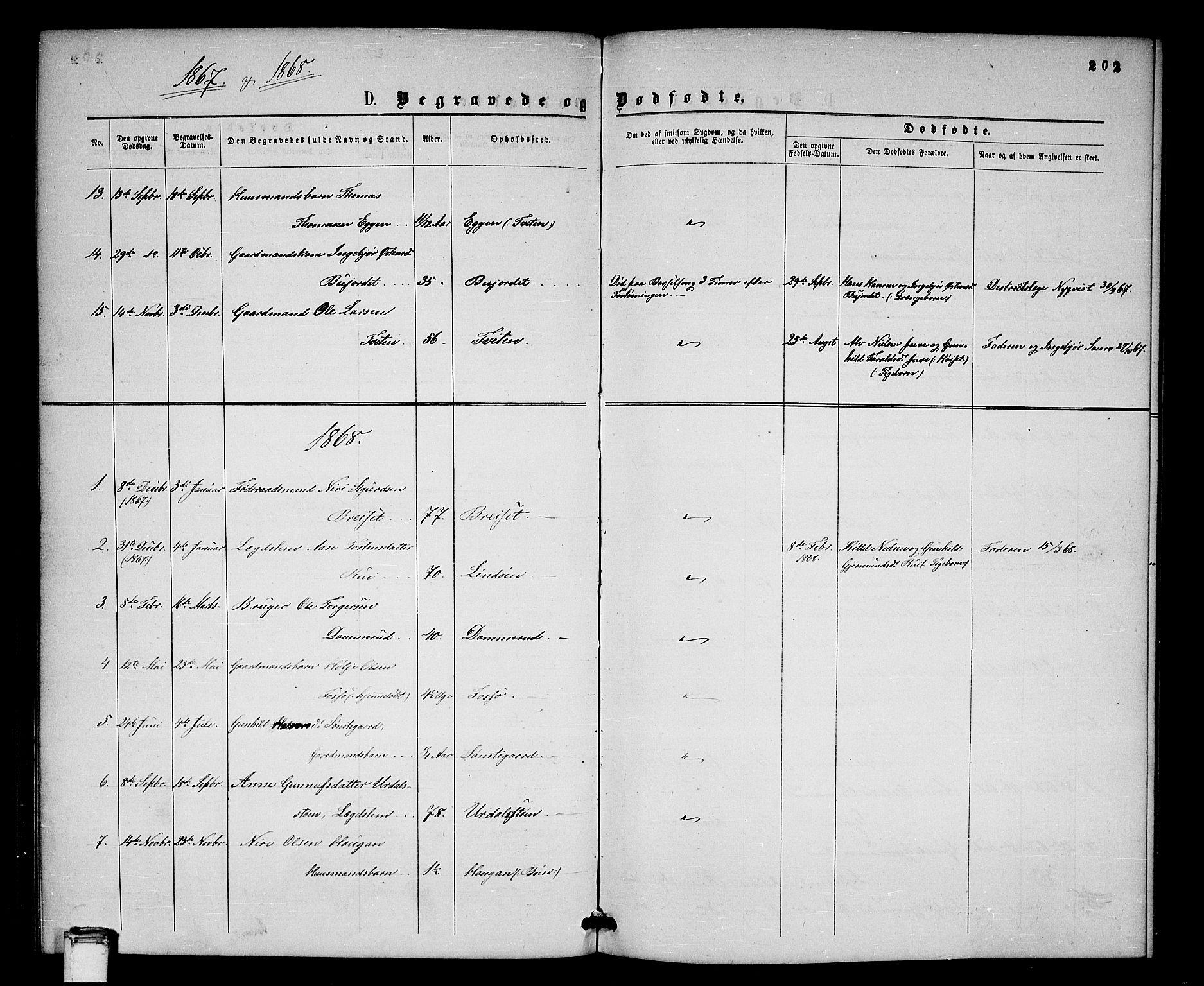 SAKO, Gransherad kirkebøker, G/Gb/L0002: Klokkerbok nr. II 2, 1860-1886, s. 202
