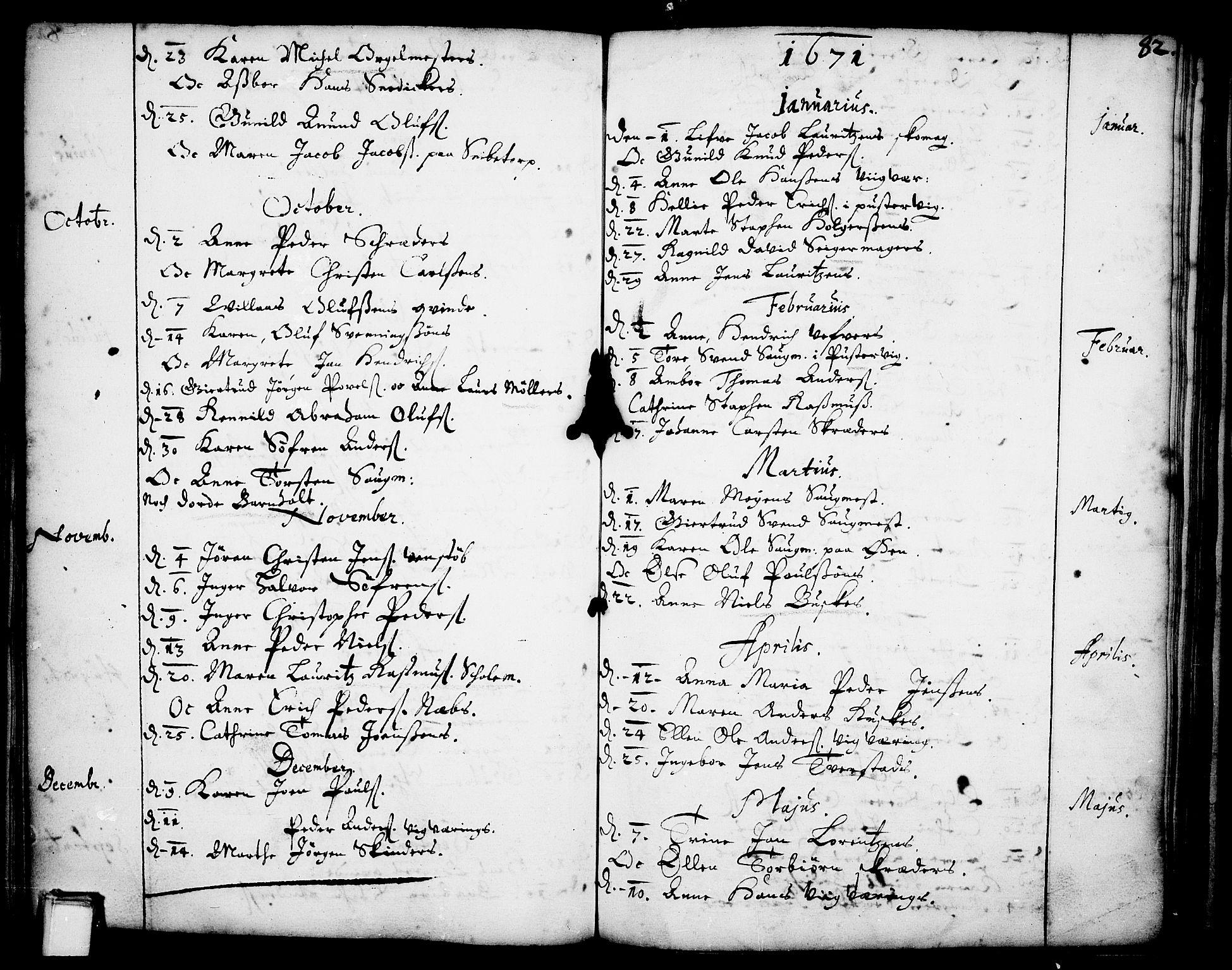 SAKO, Skien kirkebøker, F/Fa/L0001: Ministerialbok nr. 1, 1659-1679, s. 82