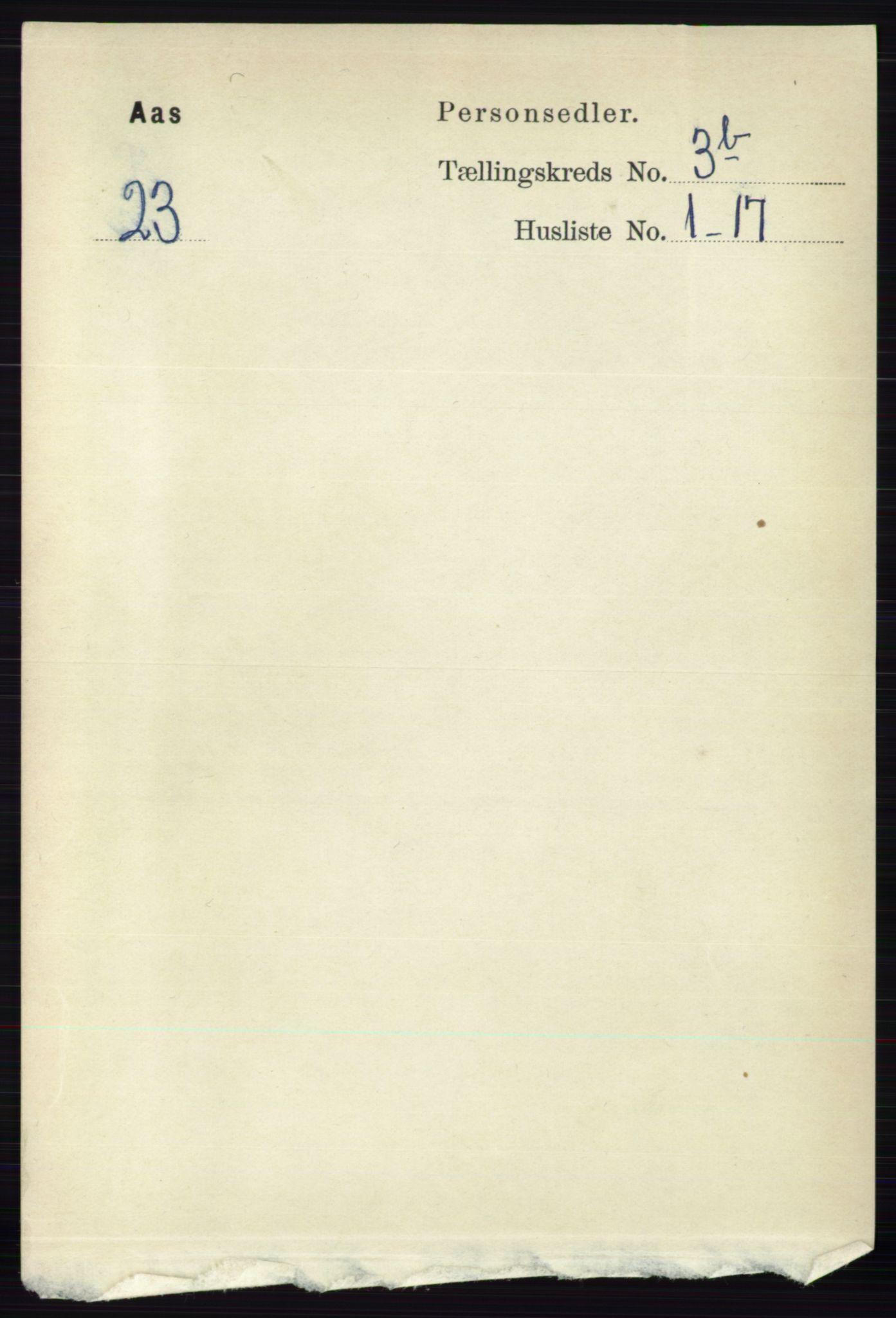 RA, Folketelling 1891 for 0214 Ås herred, 1891, s. 2726