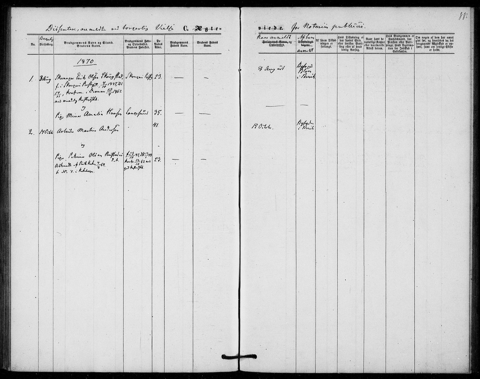 SAKO, Langesund kirkebøker, F/Fa/L0001: Ministerialbok nr. 1, 1870-1877, s. 88