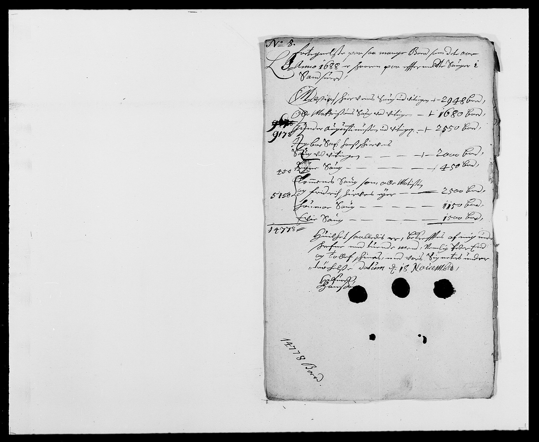 RA, Rentekammeret inntil 1814, Reviderte regnskaper, Fogderegnskap, R24/L1573: Fogderegnskap Numedal og Sandsvær, 1687-1691, s. 317